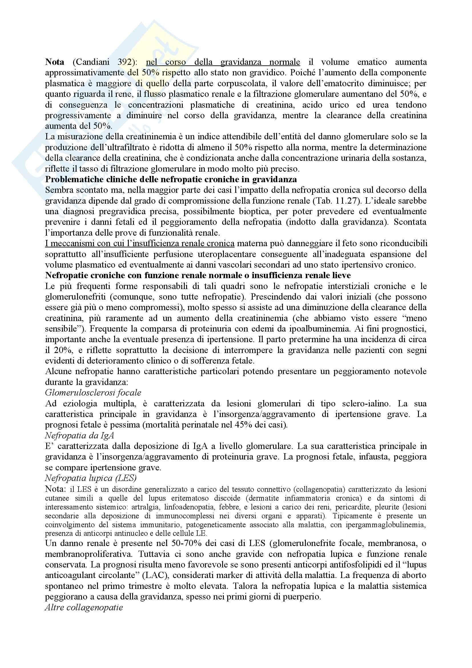 Ginecologia e Ostetricia - Ipertensione e Nefropatie in Gravidanza Pag. 6
