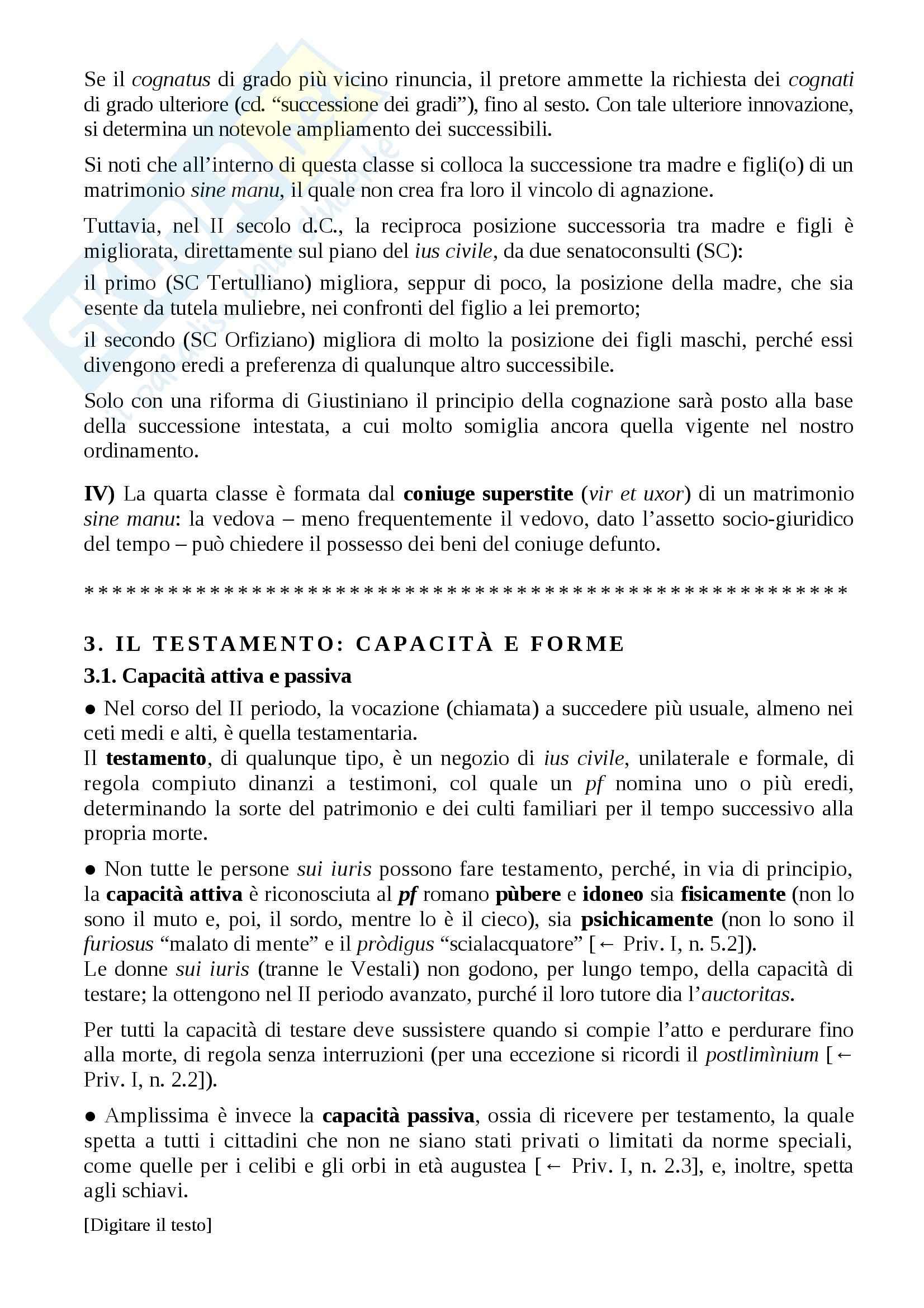 Istituzioni di diritto romano - successioni Pag. 6