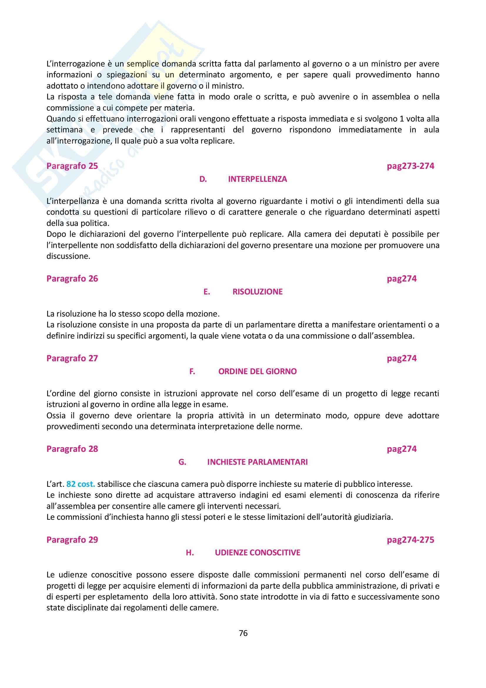 Riassunto esame Diritto Pubblico, prof. Luchena, libro consigliato Manuale di Diritto Pubblico, Rossano Pag. 76
