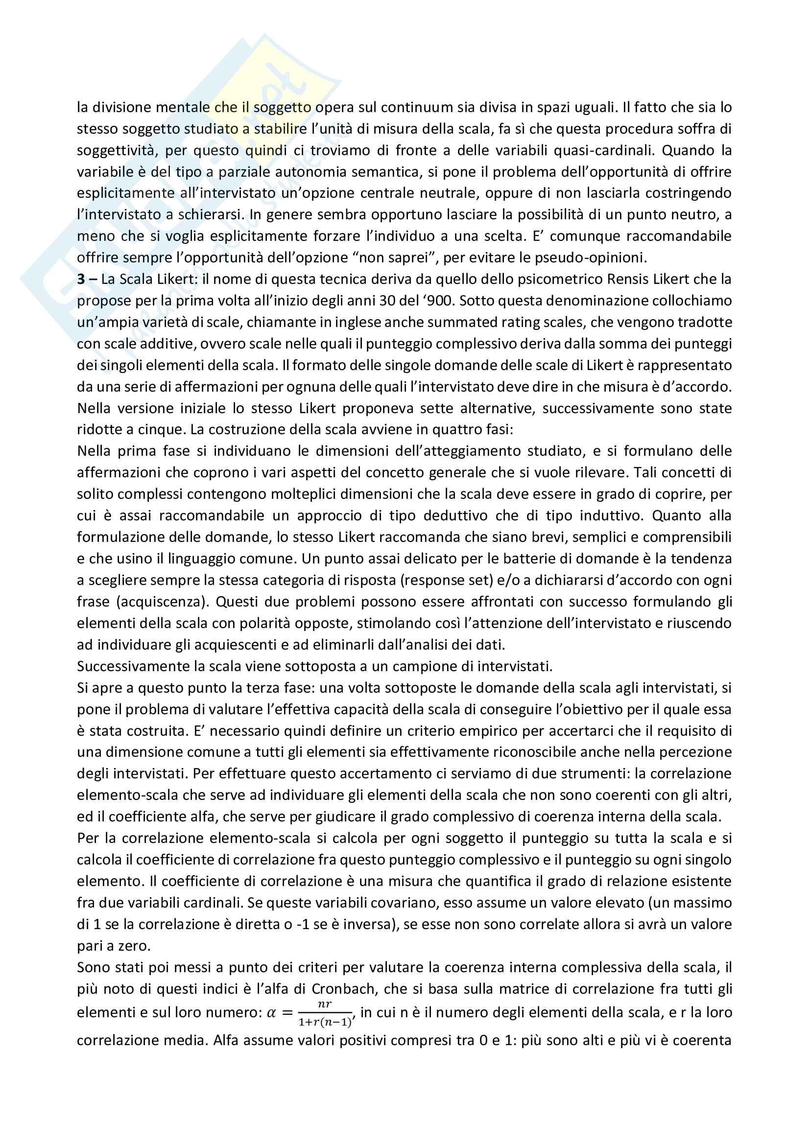 Riassunto esame Metodologia della ricerca sociale, prof. Nobile, Fasanella, libro consigliato Metodologia e tecniche della ricerca sociale, Corbetta Pag. 16