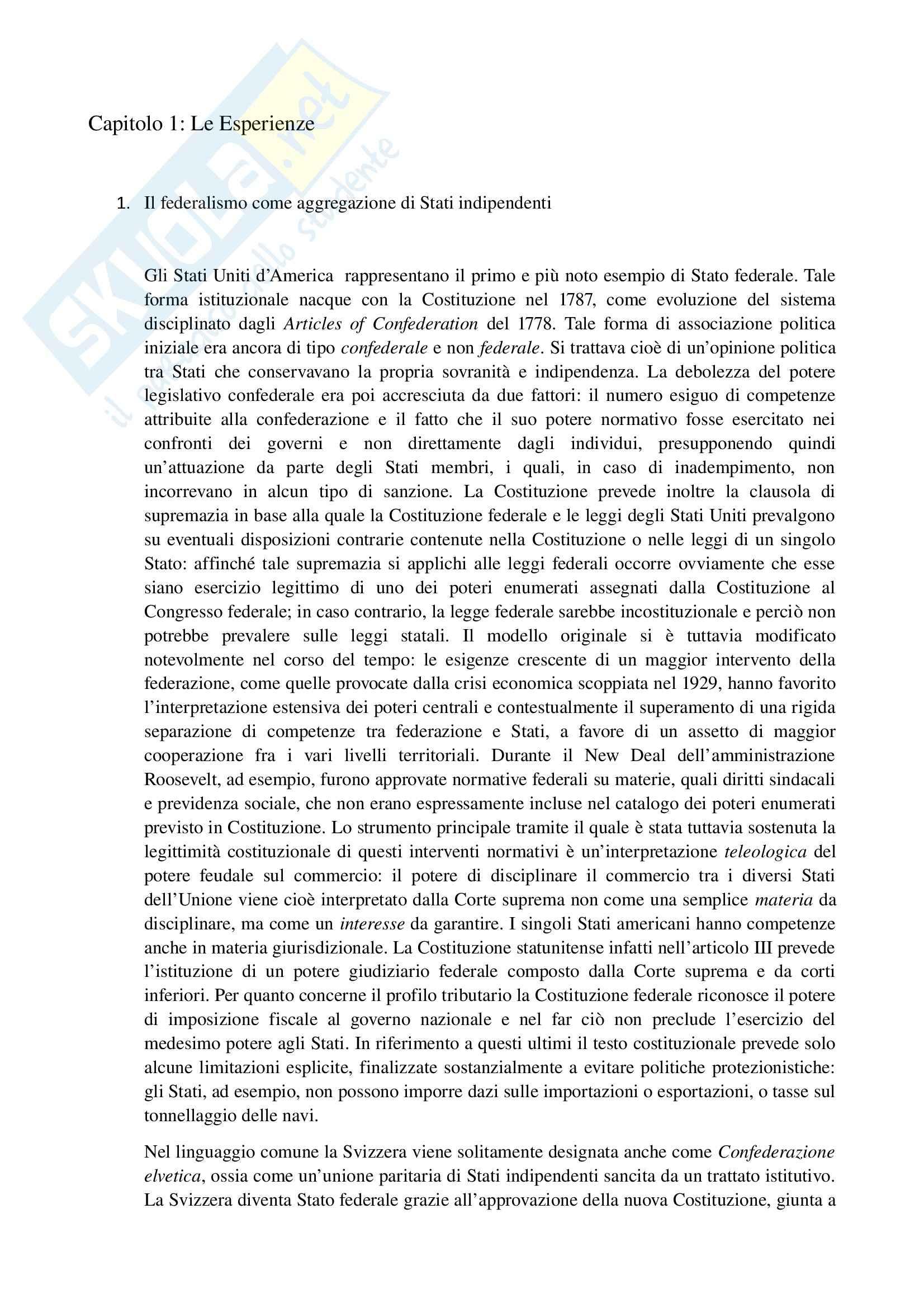 Riassunto esame Diritto regionale e degli enti locali, prof. Denuzzo, libro consigliato Diritto regionale, Bin, Falcon