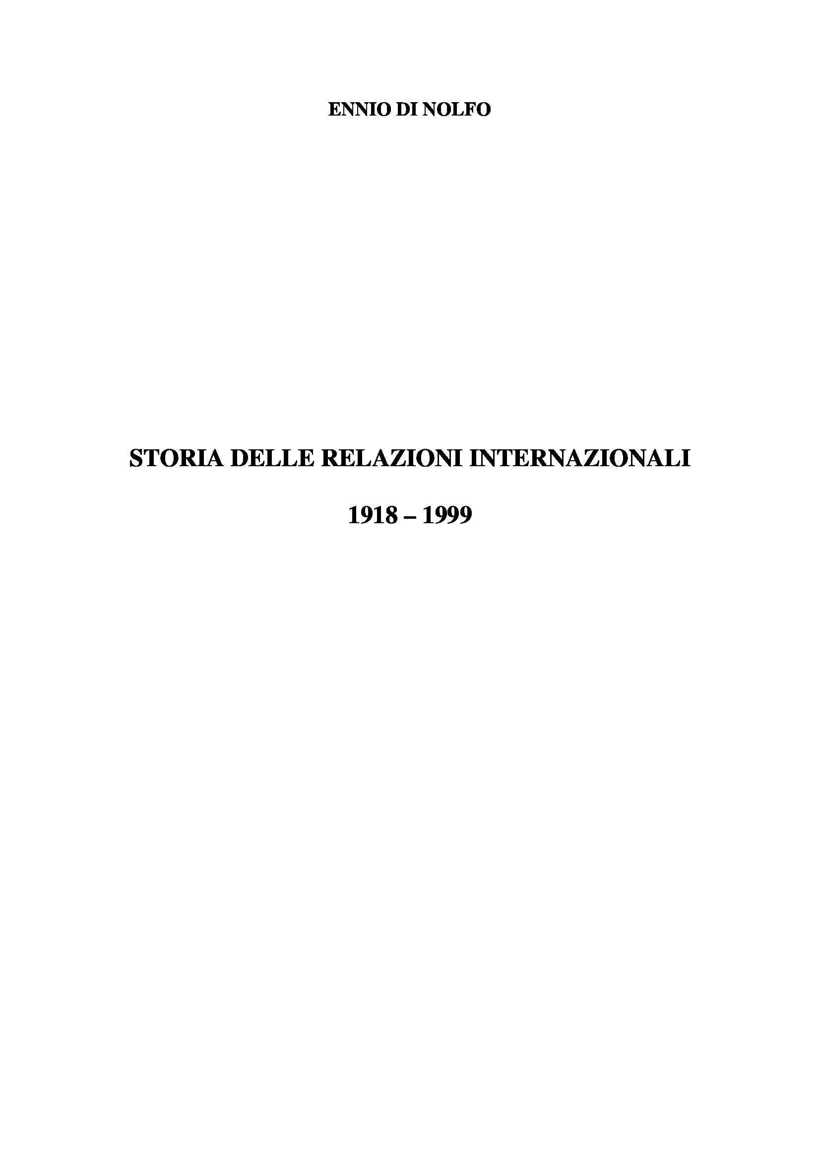 appunto L. Nuti Storia delle relazioni internazionali