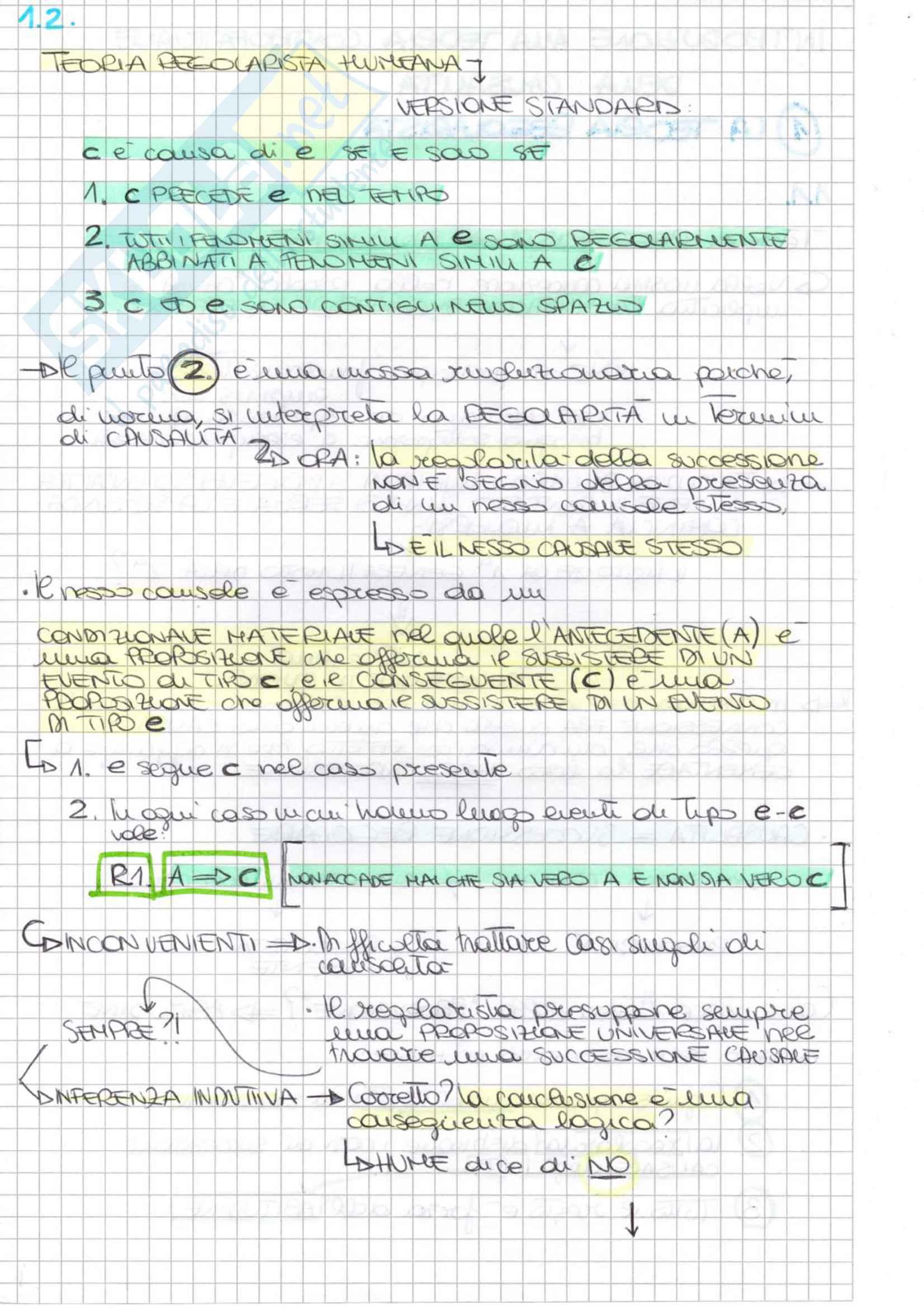 Riassunto esame Filosofia Delle Scienze Sociali, prof. Miraglia, libro consigliato Introduzione alla teoria controfattuale della causalità, Miraglia Pag. 6