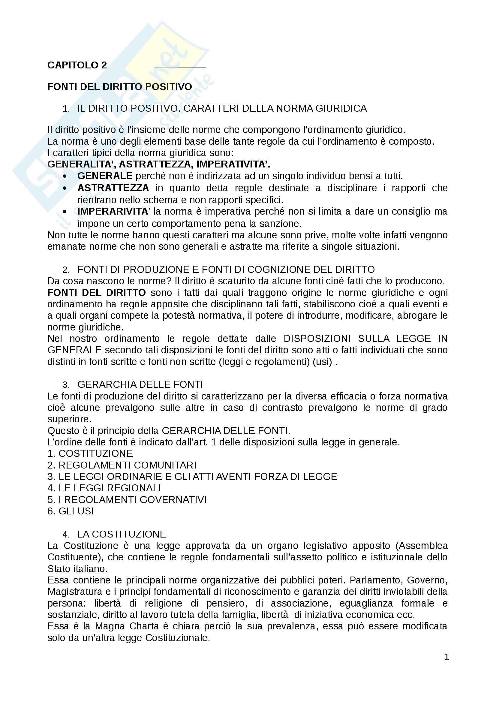 Riassunto esame Diritto Privato, prof. Fernandez, libro consigliato Istituzioni di diritto privato, Paradiso M., Giappichelli