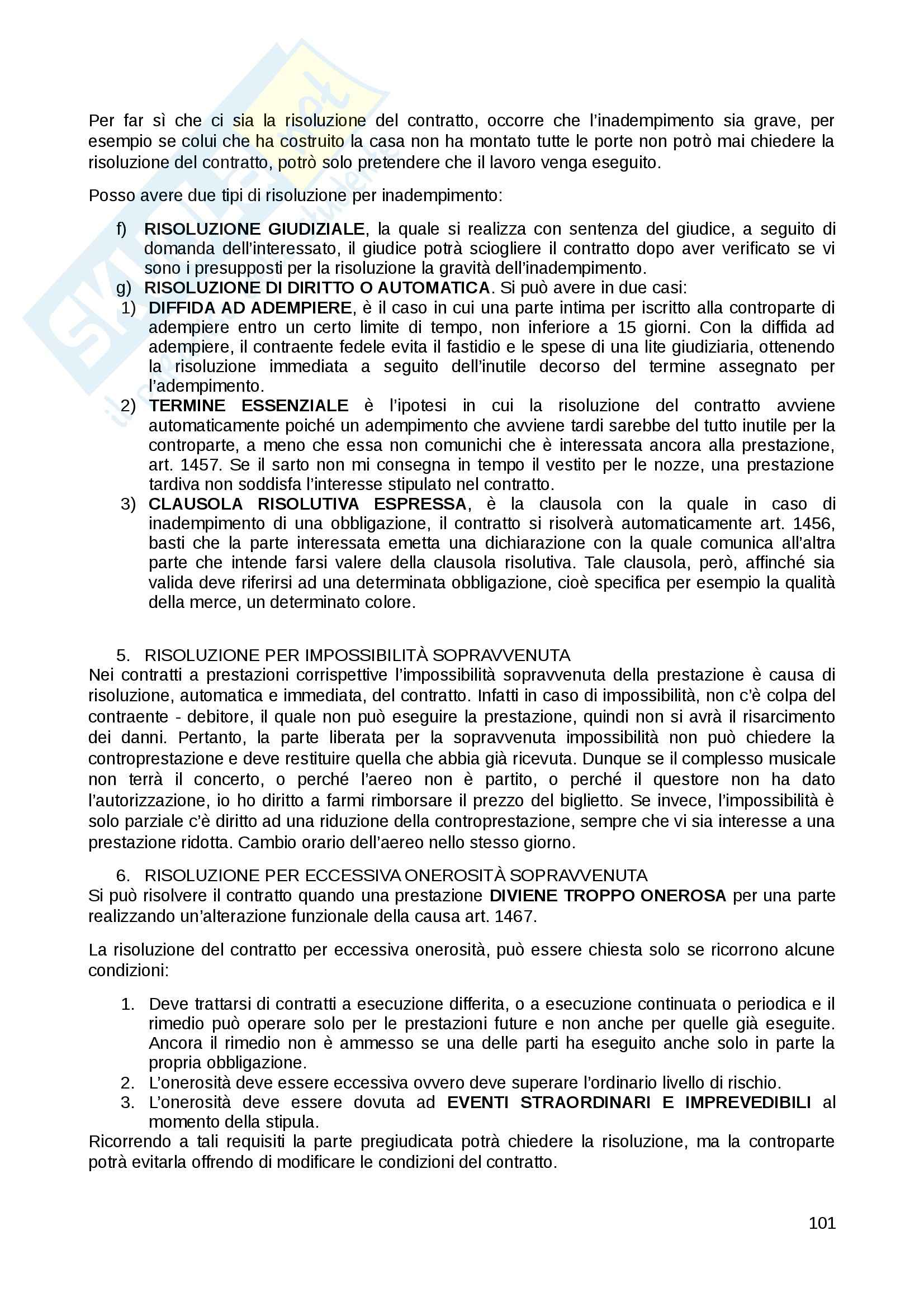 Riassunto esame Diritto Privato, prof. Fernandez, libro consigliato Istituzioni di diritto privato, Paradiso M., Giappichelli Pag. 101