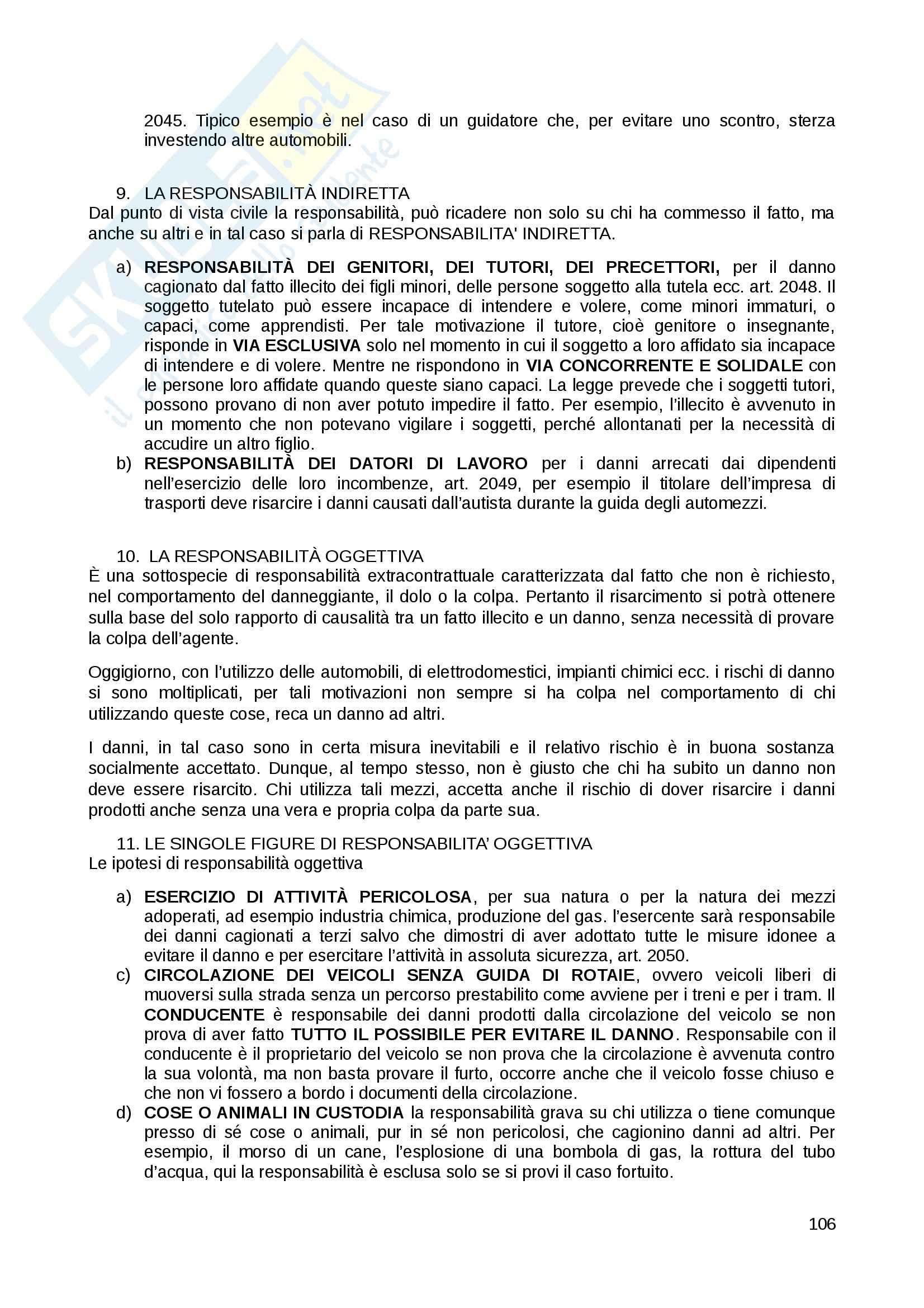 Riassunto esame Diritto Privato, prof. Fernandez, libro consigliato Istituzioni di diritto privato, Paradiso M., Giappichelli Pag. 106