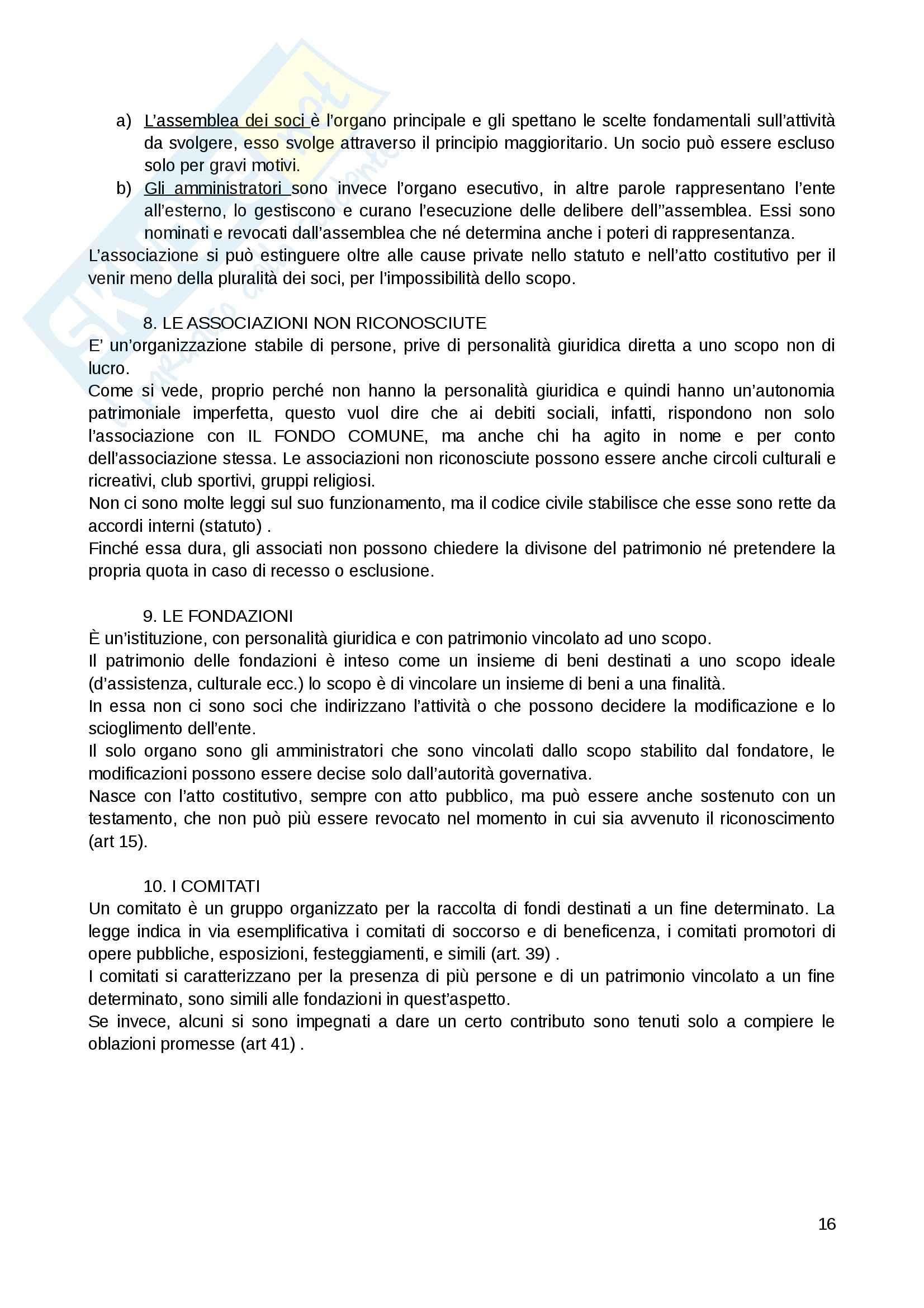 Riassunto esame Diritto Privato, prof. Fernandez, libro consigliato Istituzioni di diritto privato, Paradiso M., Giappichelli Pag. 16