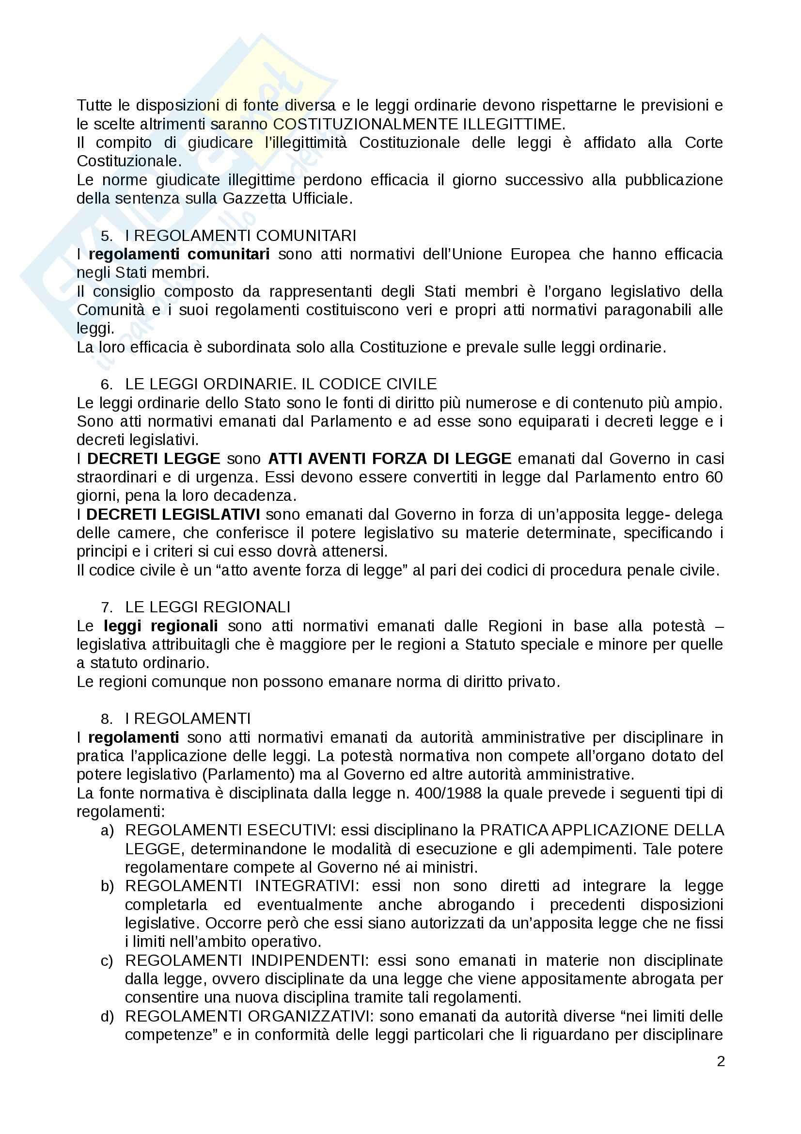 Riassunto esame Diritto Privato, prof. Fernandez, libro consigliato Istituzioni di diritto privato, Paradiso M., Giappichelli Pag. 2