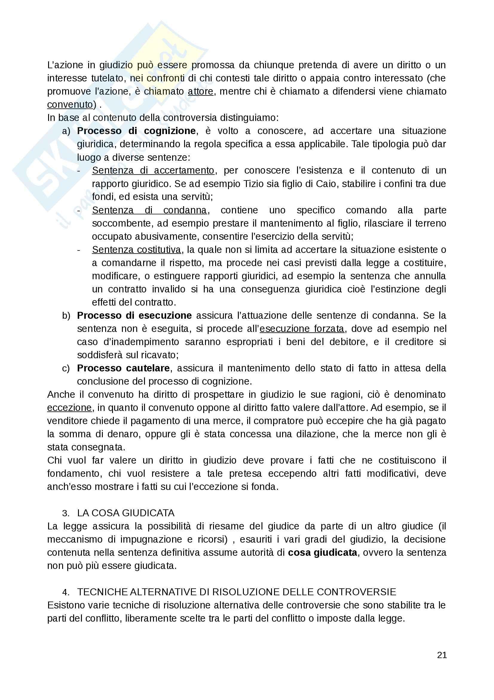 Riassunto esame Diritto Privato, prof. Fernandez, libro consigliato Istituzioni di diritto privato, Paradiso M., Giappichelli Pag. 21