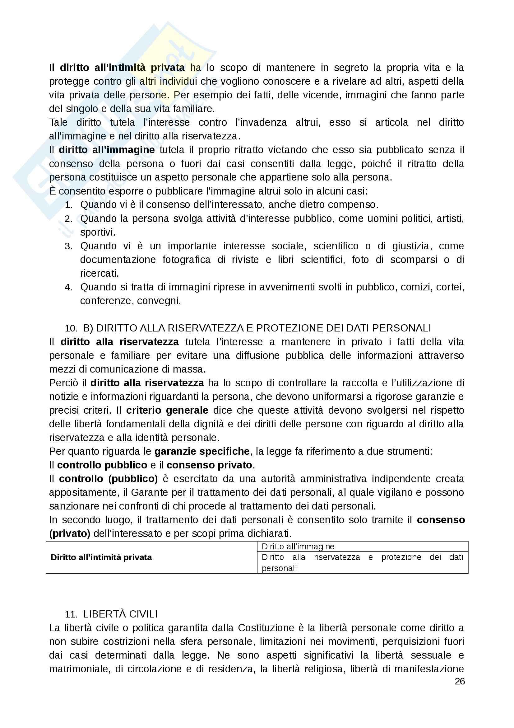 Riassunto esame Diritto Privato, prof. Fernandez, libro consigliato Istituzioni di diritto privato, Paradiso M., Giappichelli Pag. 26