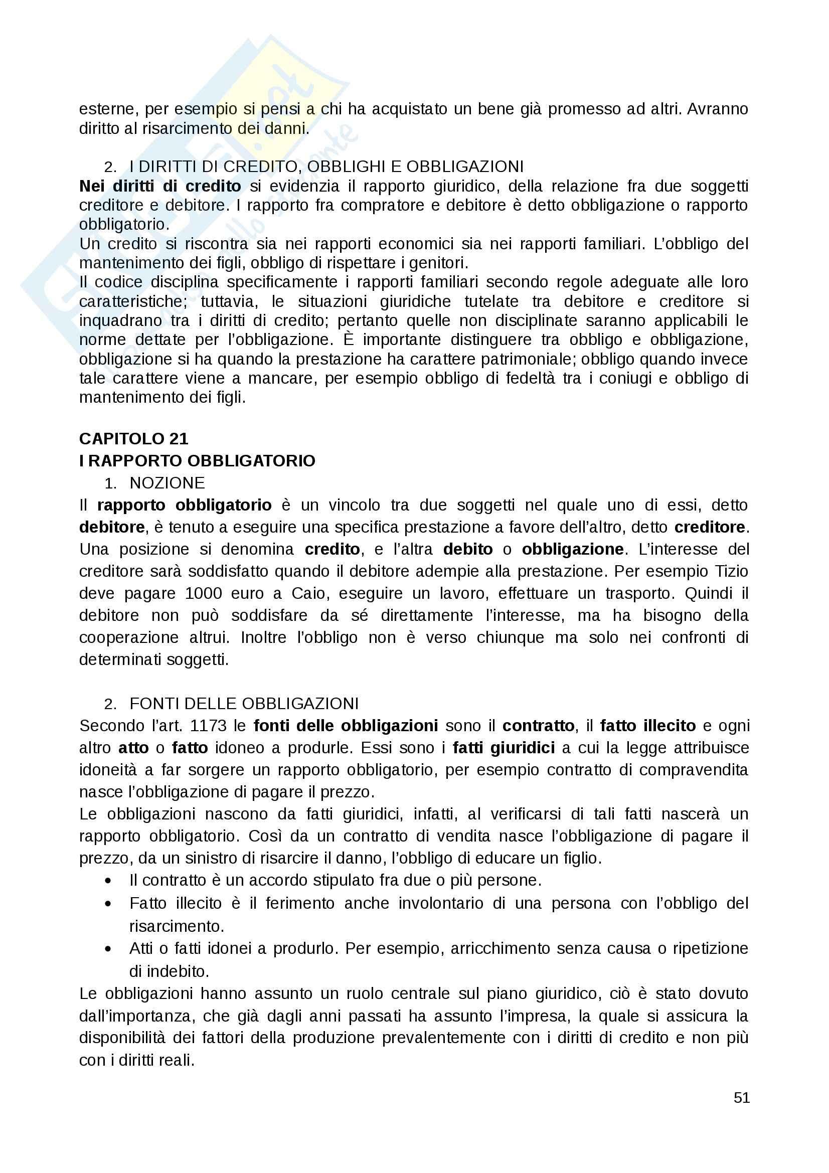 Riassunto esame Diritto Privato, prof. Fernandez, libro consigliato Istituzioni di diritto privato, Paradiso M., Giappichelli Pag. 51
