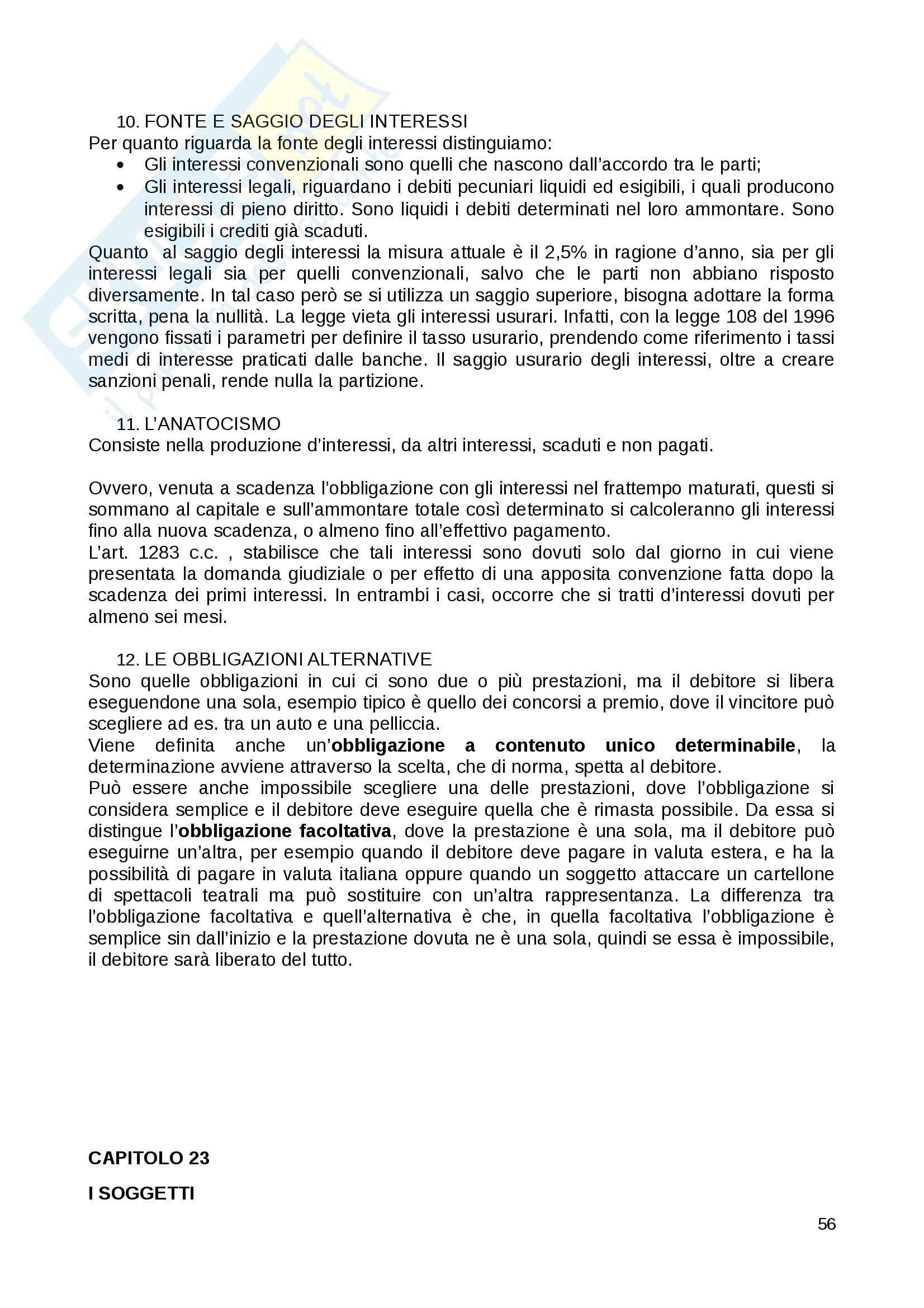 Riassunto esame Diritto Privato, prof. Fernandez, libro consigliato Istituzioni di diritto privato, Paradiso M., Giappichelli Pag. 56