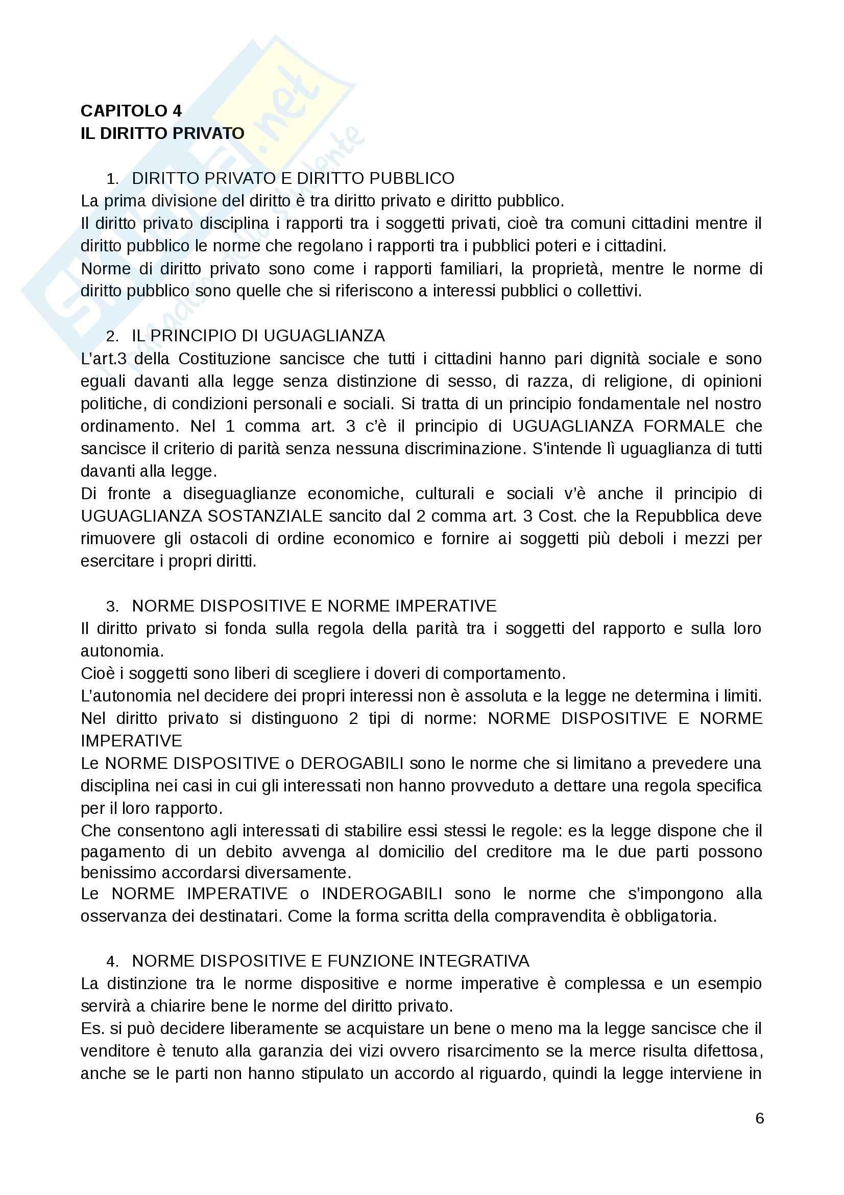 Riassunto esame Diritto Privato, prof. Fernandez, libro consigliato Istituzioni di diritto privato, Paradiso M., Giappichelli Pag. 6