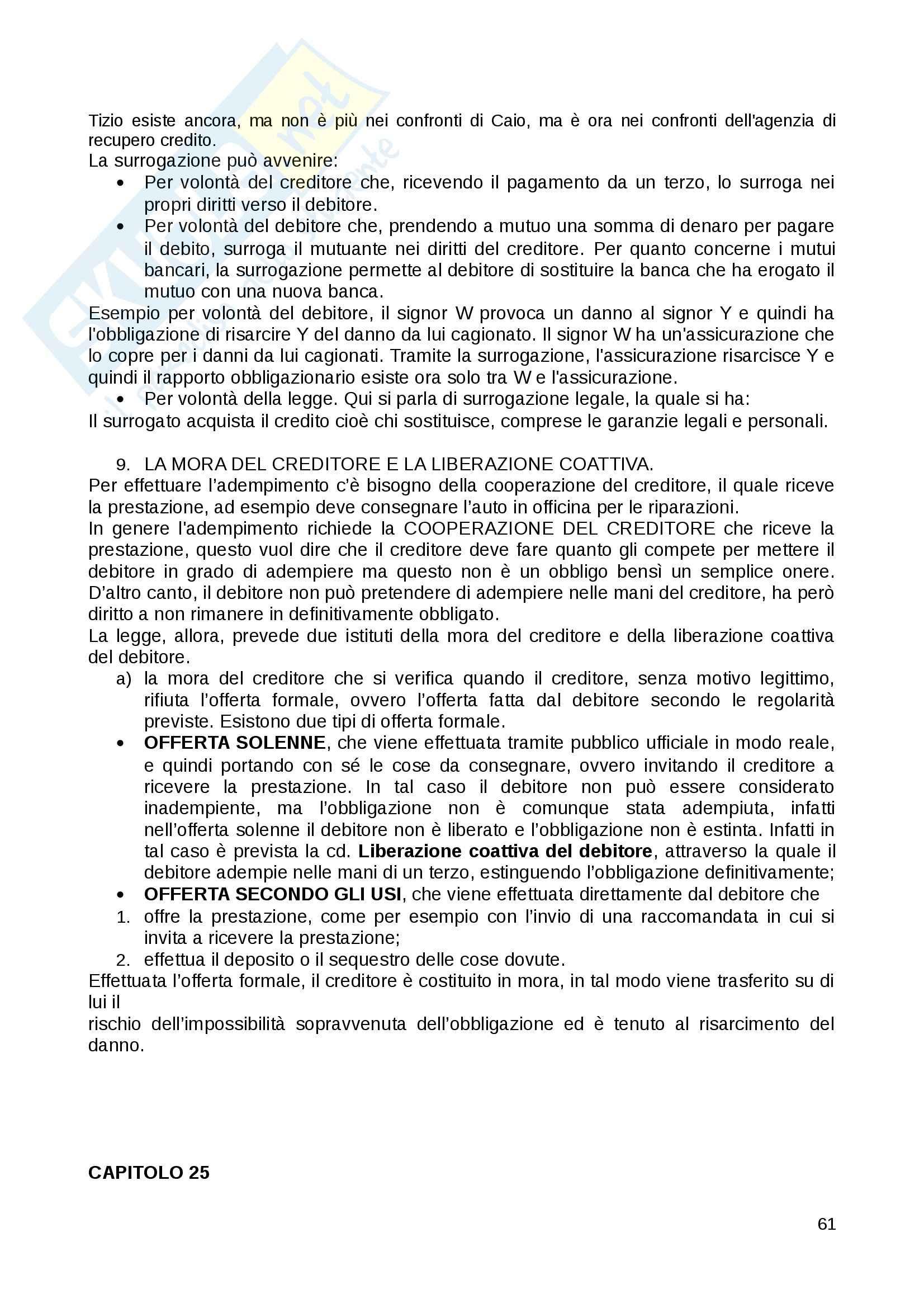 Riassunto esame Diritto Privato, prof. Fernandez, libro consigliato Istituzioni di diritto privato, Paradiso M., Giappichelli Pag. 61