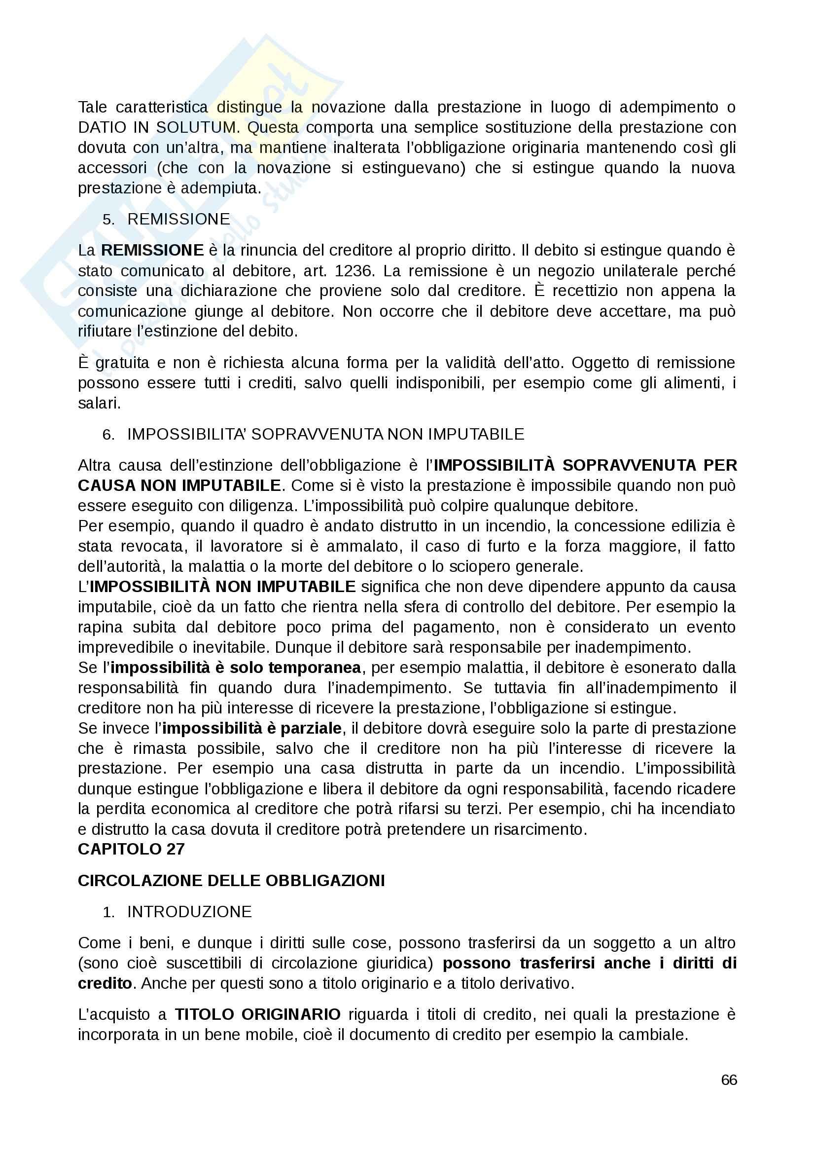 Riassunto esame Diritto Privato, prof. Fernandez, libro consigliato Istituzioni di diritto privato, Paradiso M., Giappichelli Pag. 66