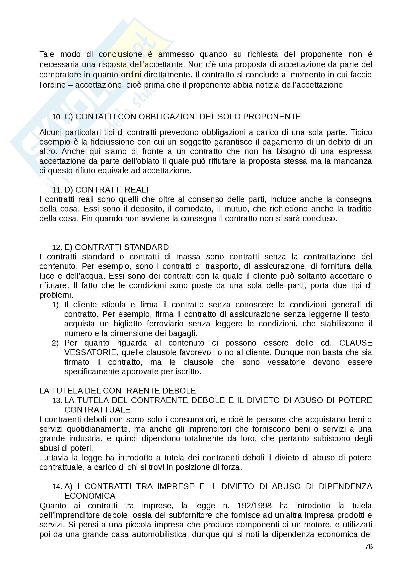 Riassunto esame Diritto Privato, prof. Fernandez, libro consigliato Istituzioni di diritto privato, Paradiso M., Giappichelli Pag. 76