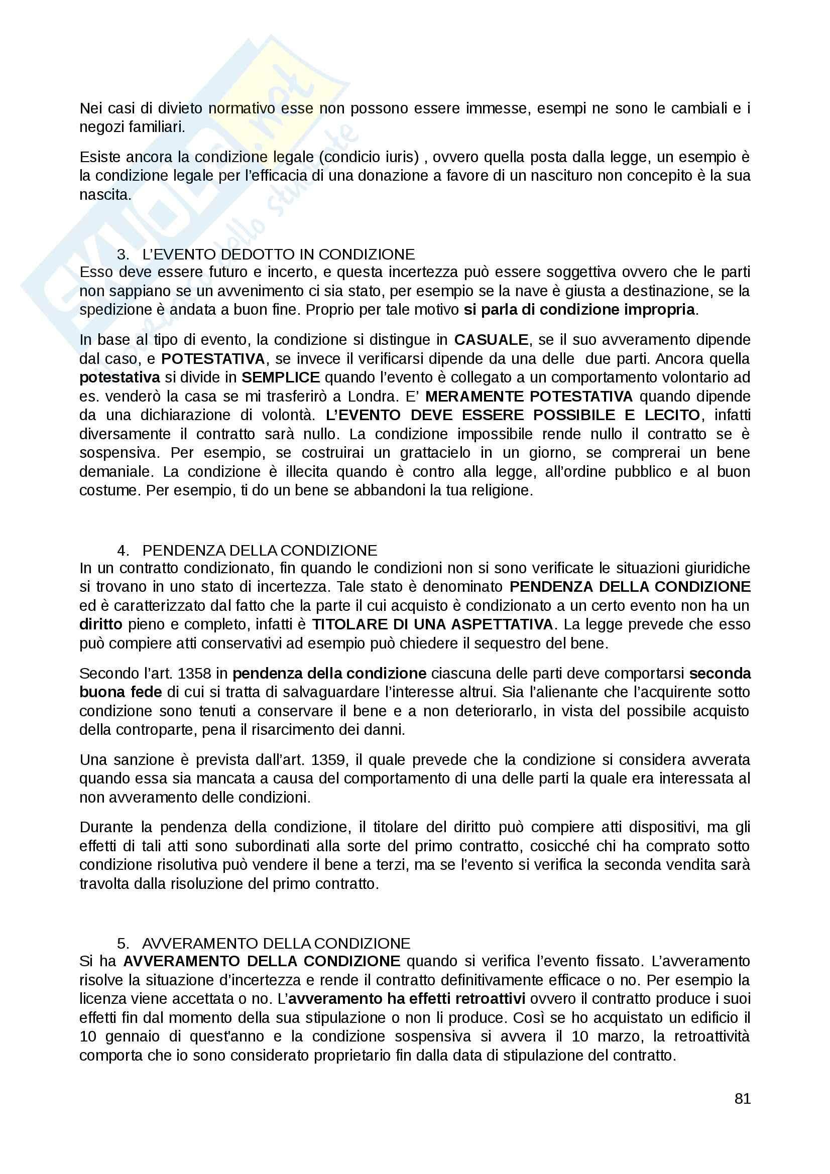 Riassunto esame Diritto Privato, prof. Fernandez, libro consigliato Istituzioni di diritto privato, Paradiso M., Giappichelli Pag. 81