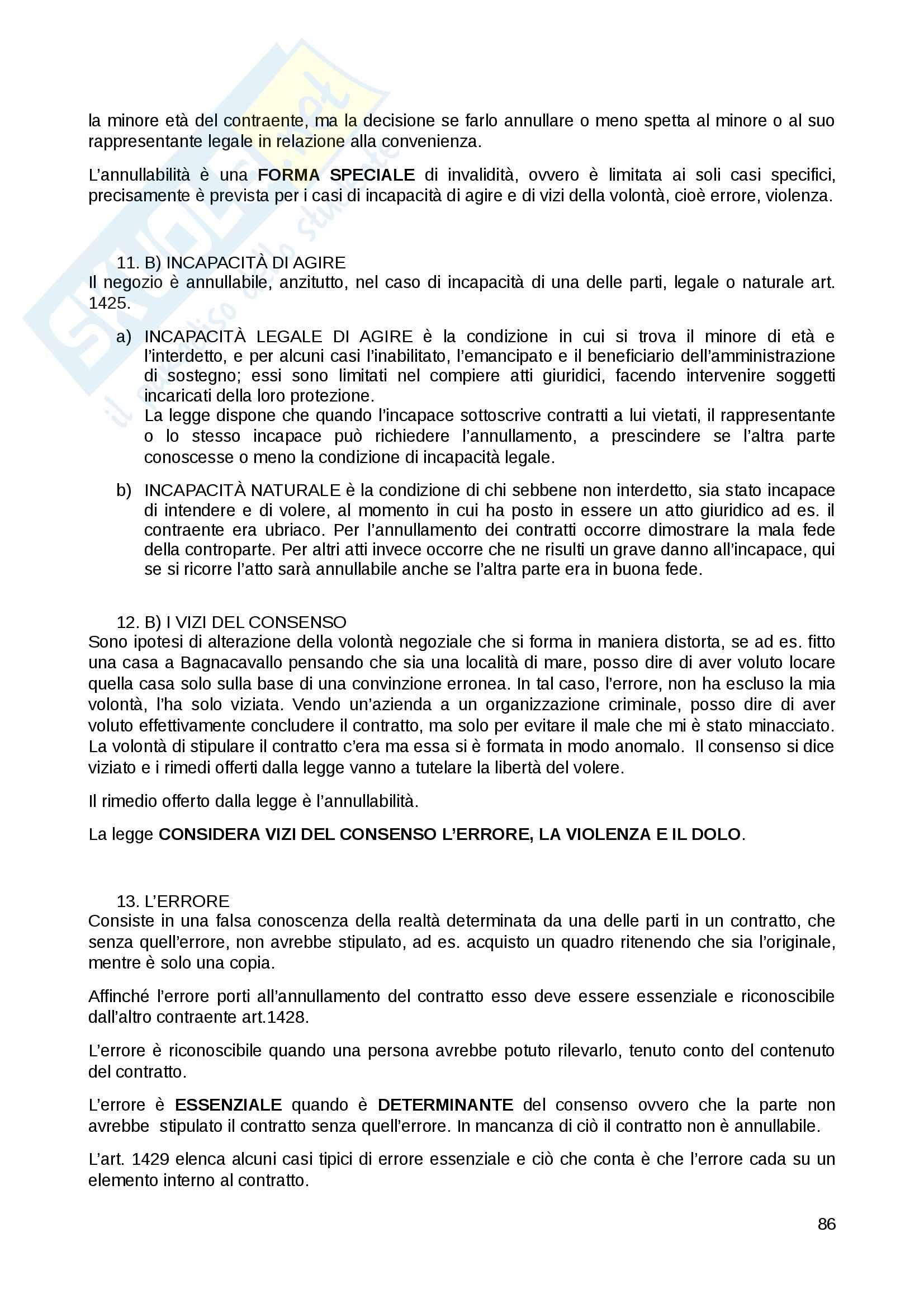 Riassunto esame Diritto Privato, prof. Fernandez, libro consigliato Istituzioni di diritto privato, Paradiso M., Giappichelli Pag. 86