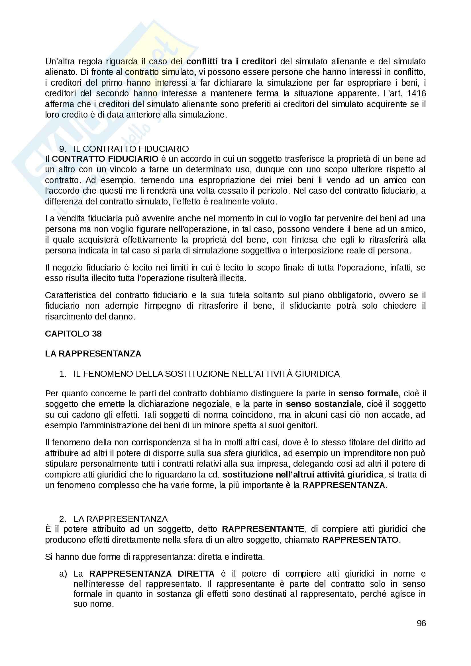 Riassunto esame Diritto Privato, prof. Fernandez, libro consigliato Istituzioni di diritto privato, Paradiso M., Giappichelli Pag. 96