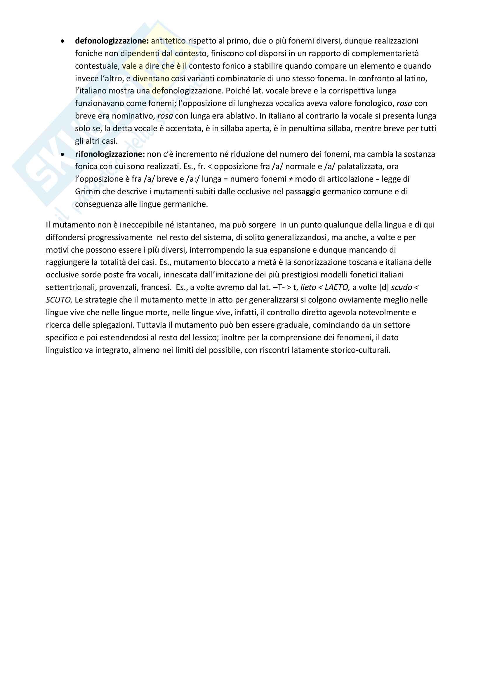 Riassunto esame Glottologia, Fanciullo, libro consigliato Manuale di linguistica storica, Fanciullo Pag. 6