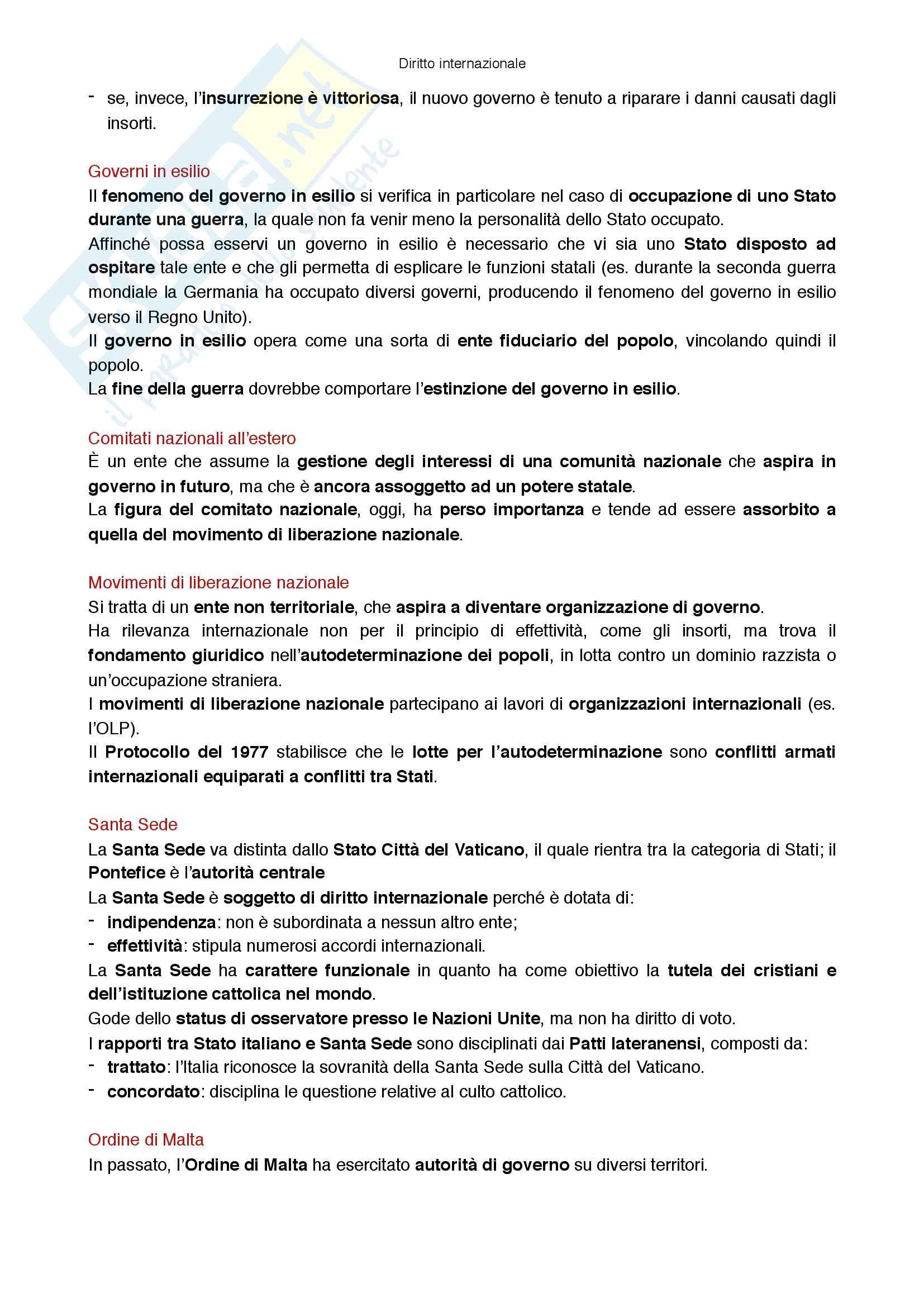 Riassunto esame Diritto internazionale, prof Virzo, libro consigliato Introduzione al diritto internazionale, Ronzitti Pag. 2
