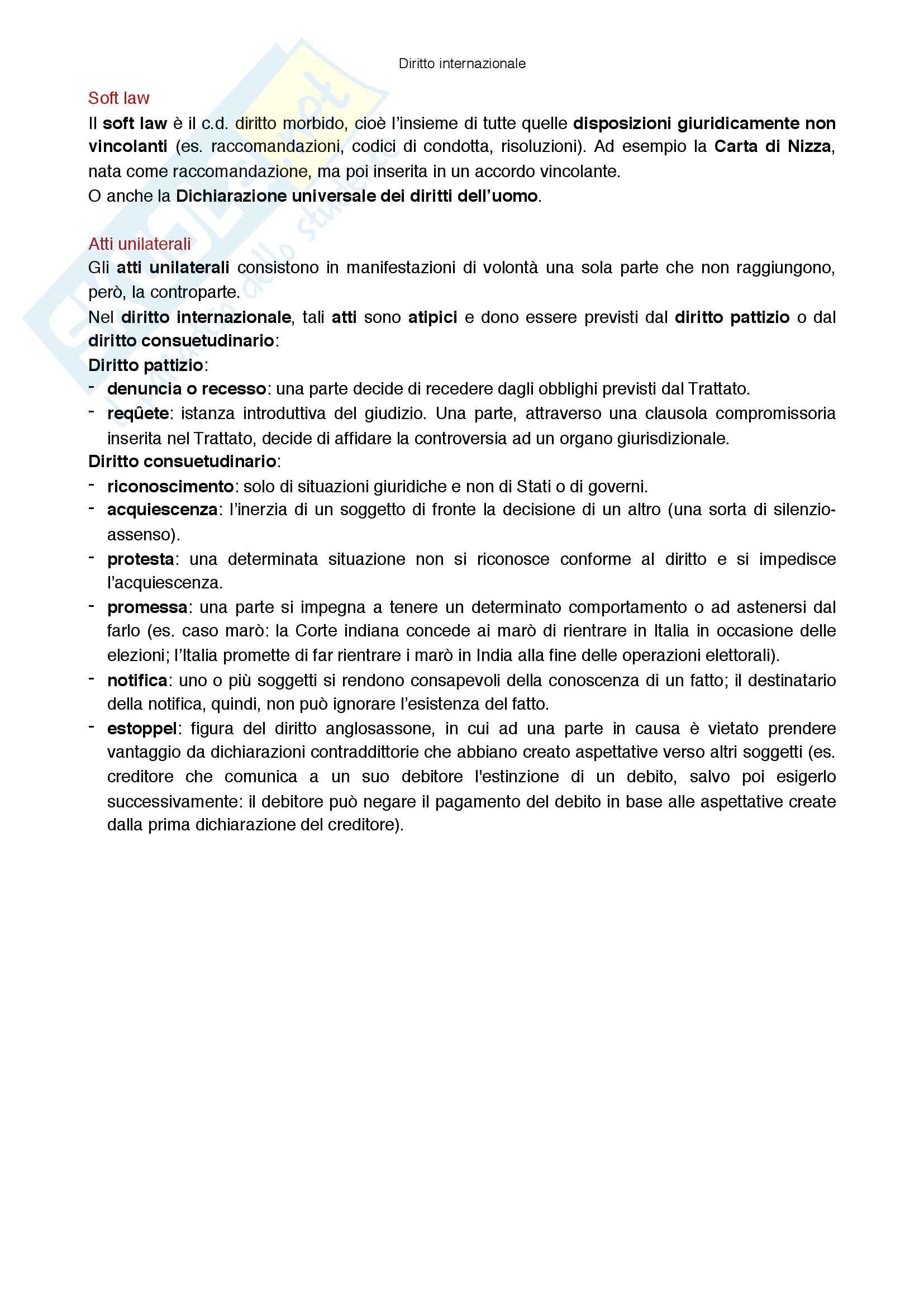 Riassunto esame Diritto internazionale, prof Virzo, libro consigliato Introduzione al diritto internazionale, Ronzitti Pag. 26