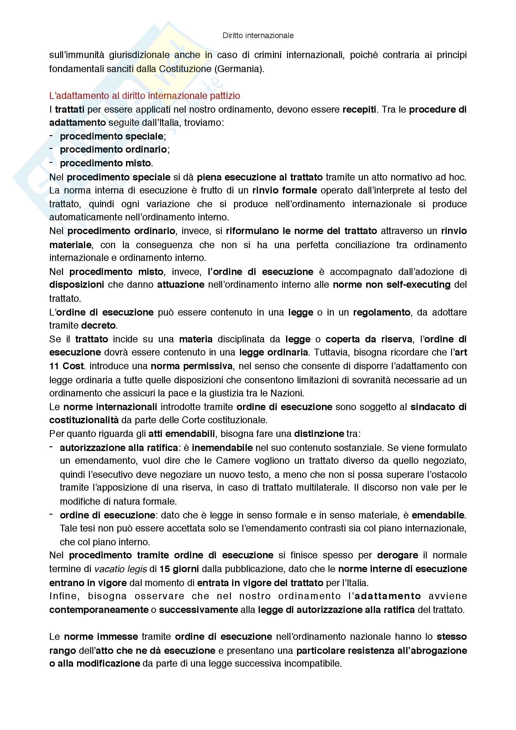 Riassunto esame Diritto internazionale, prof Virzo, libro consigliato Introduzione al diritto internazionale, Ronzitti Pag. 36