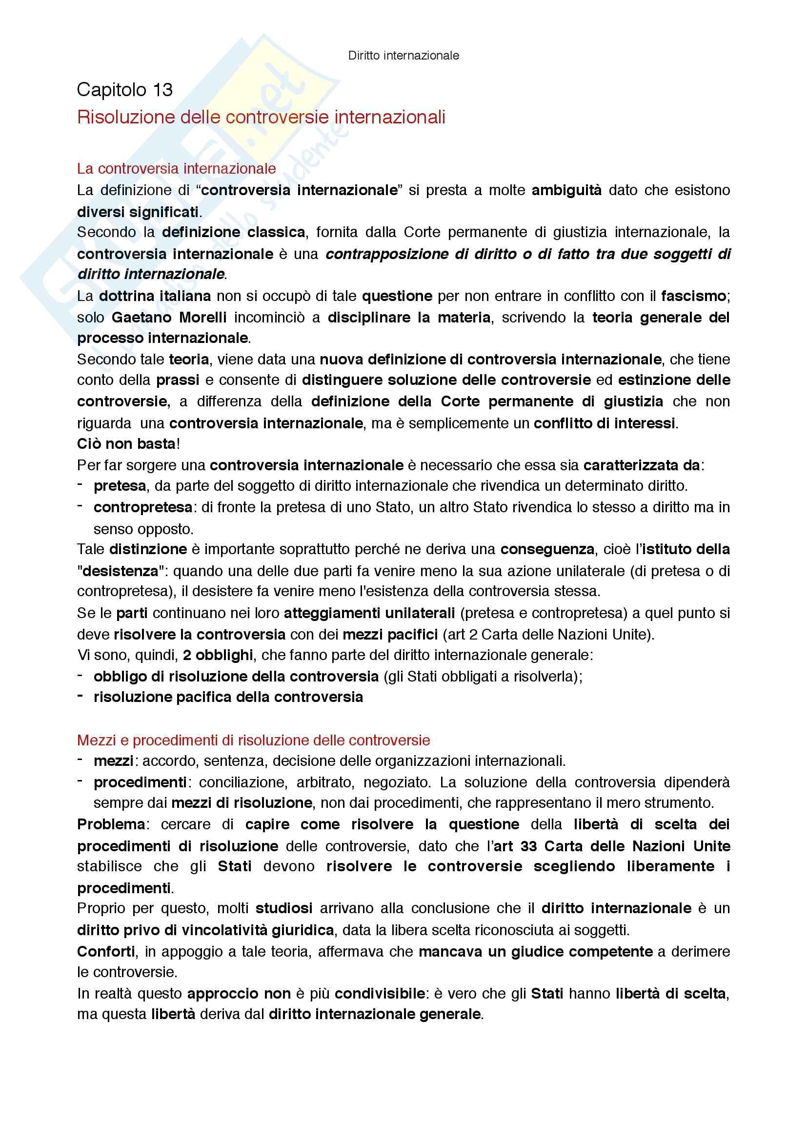 Riassunto esame Diritto internazionale, prof Virzo, libro consigliato Introduzione al diritto internazionale, Ronzitti Pag. 51