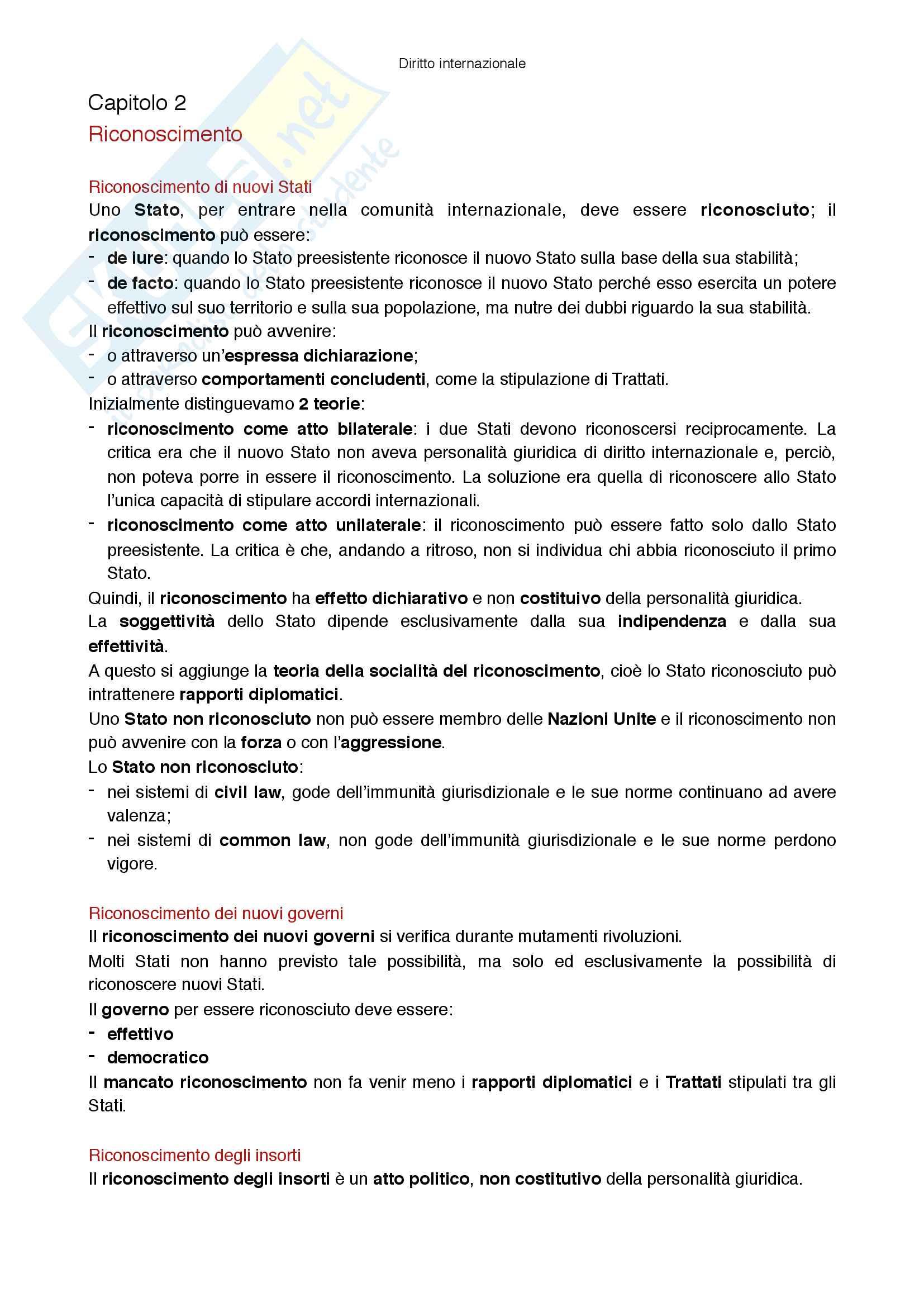 Riassunto esame Diritto internazionale, prof Virzo, libro consigliato Introduzione al diritto internazionale, Ronzitti Pag. 6