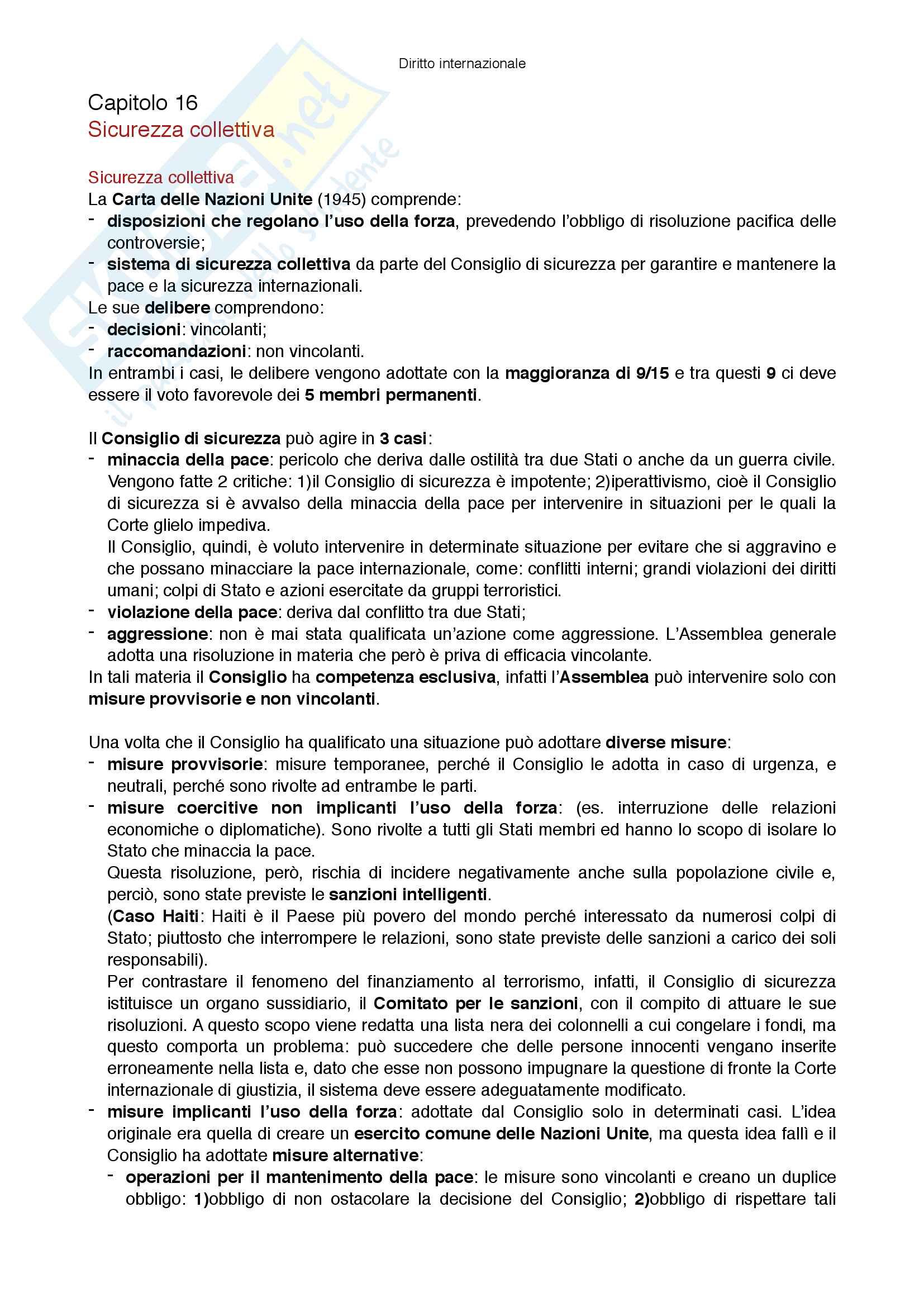 Riassunto esame Diritto internazionale, prof Virzo, libro consigliato Introduzione al diritto internazionale, Ronzitti Pag. 66