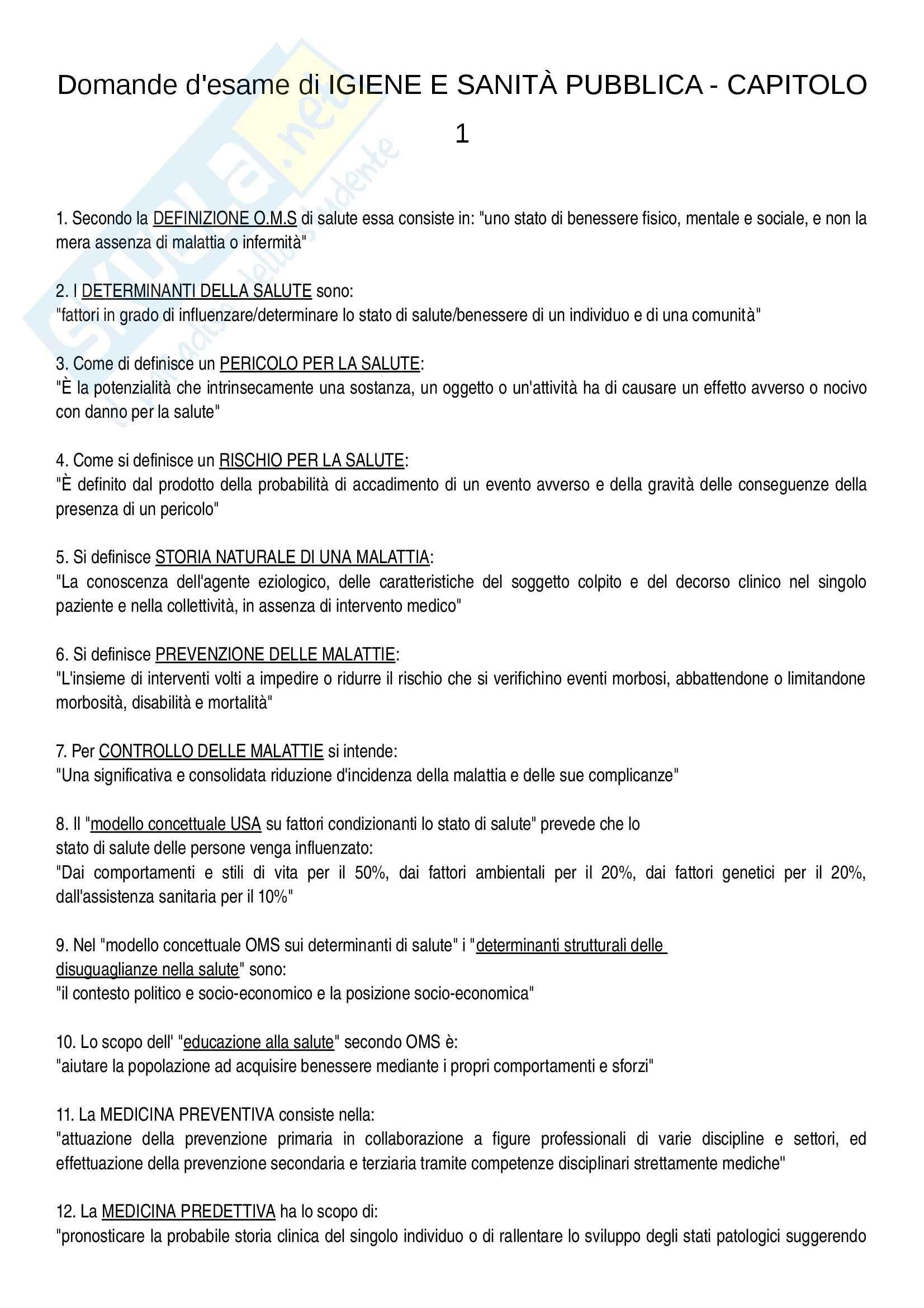 esercitazione M. Panella Igiene e sanità pubblica