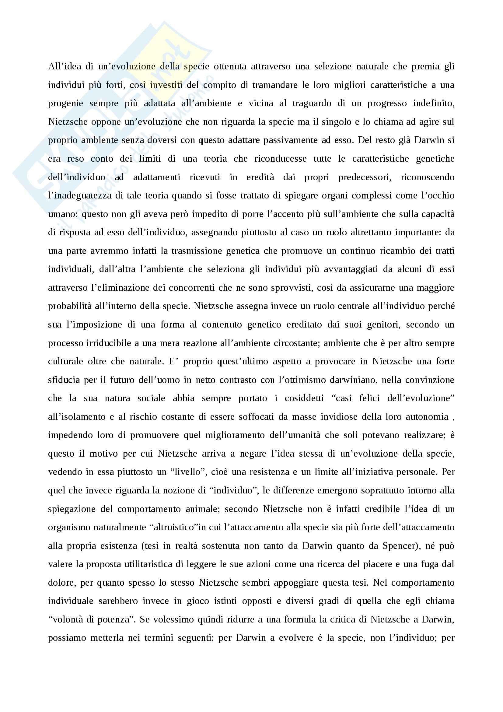 Ermeneutica filosofica - Nietzsche e il tema della coscienza Pag. 6