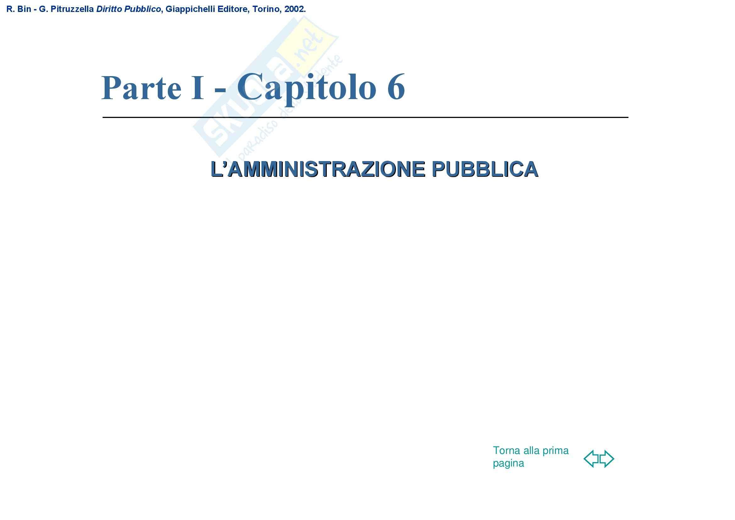 Diritto pubblico – Amministrazione pubblica