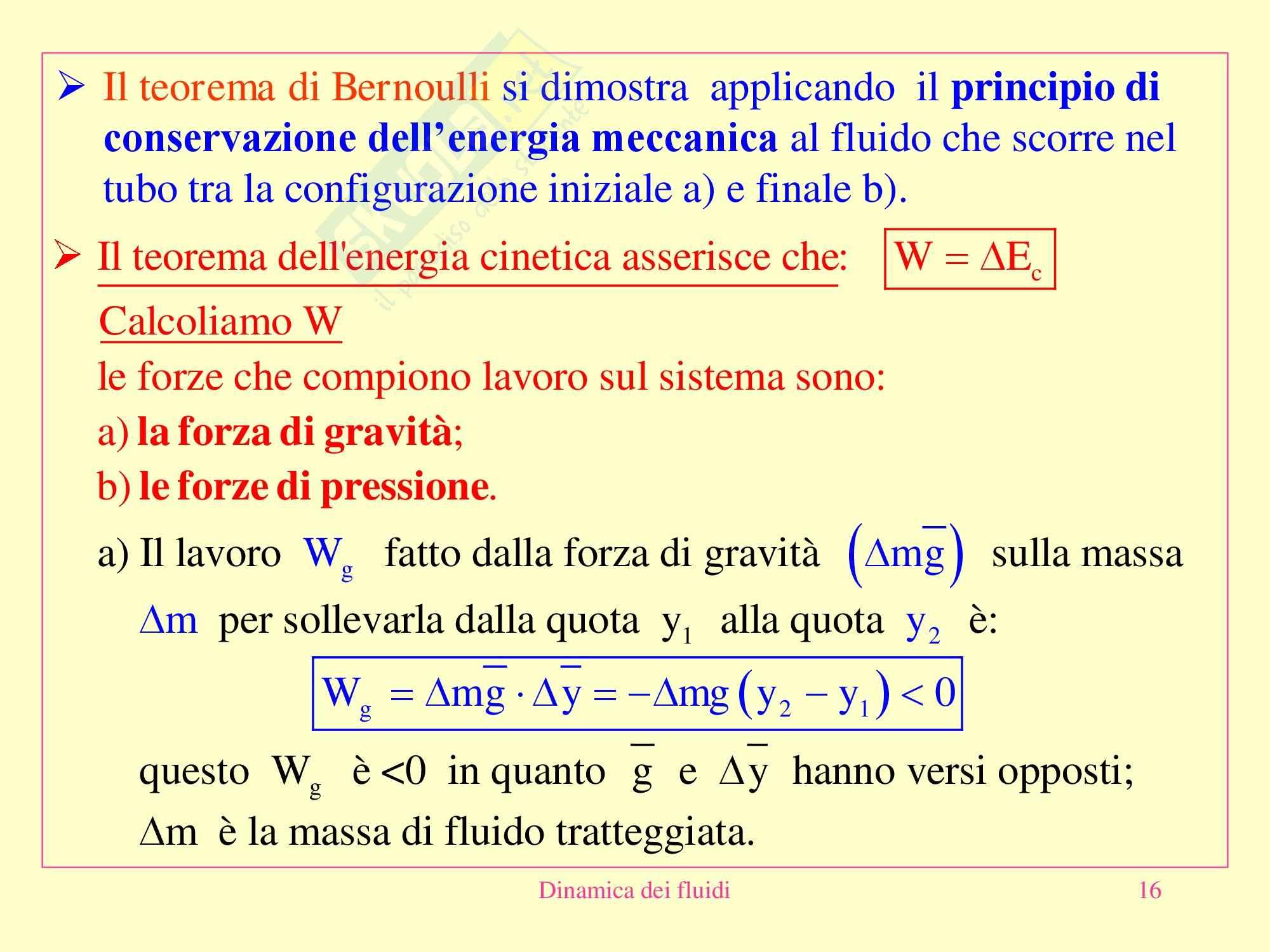 Fisica medica - dinamica dei fluidi Pag. 16