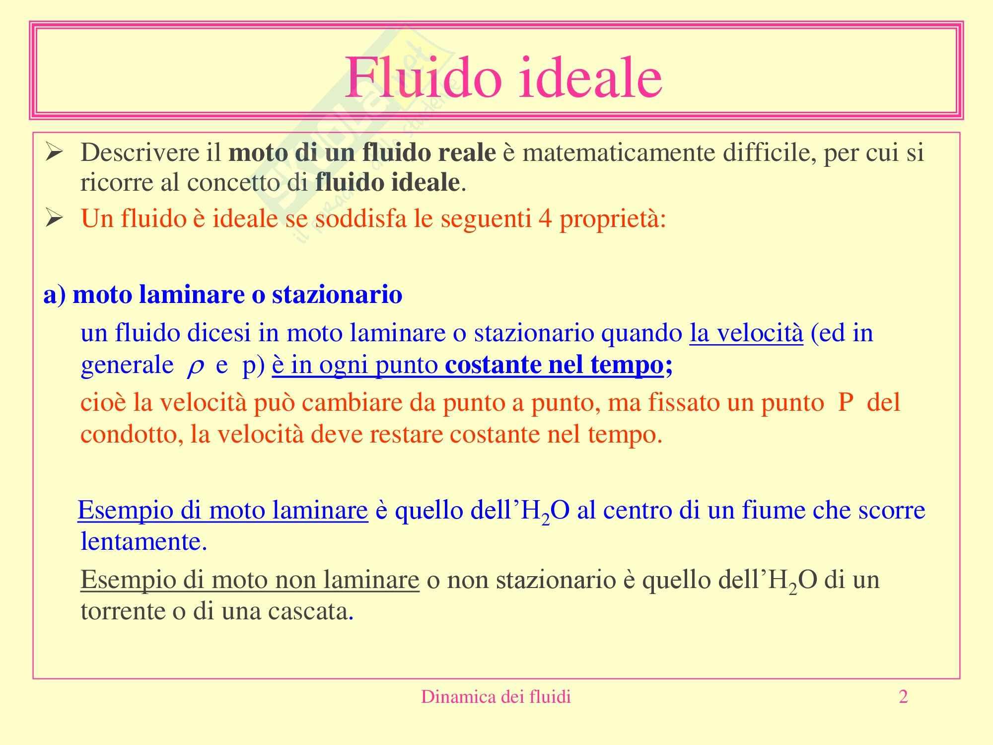 Fisica medica - dinamica dei fluidi Pag. 2