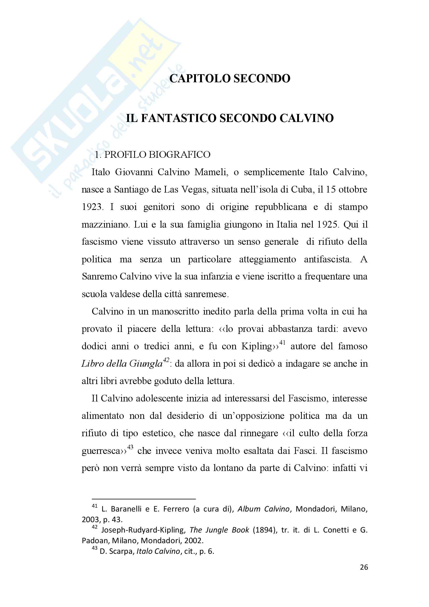Tesi - Italo Calvino e il fantastico Pag. 26