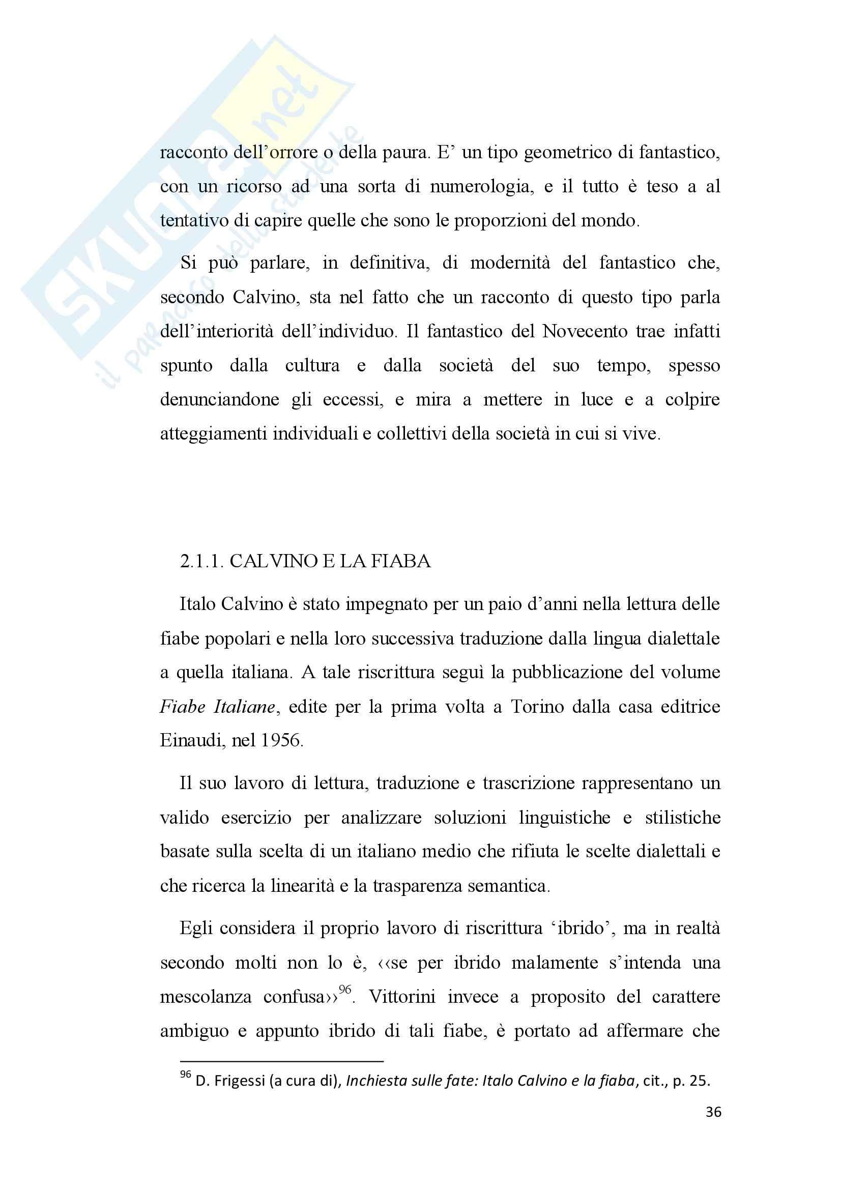 Tesi - Italo Calvino e il fantastico Pag. 36