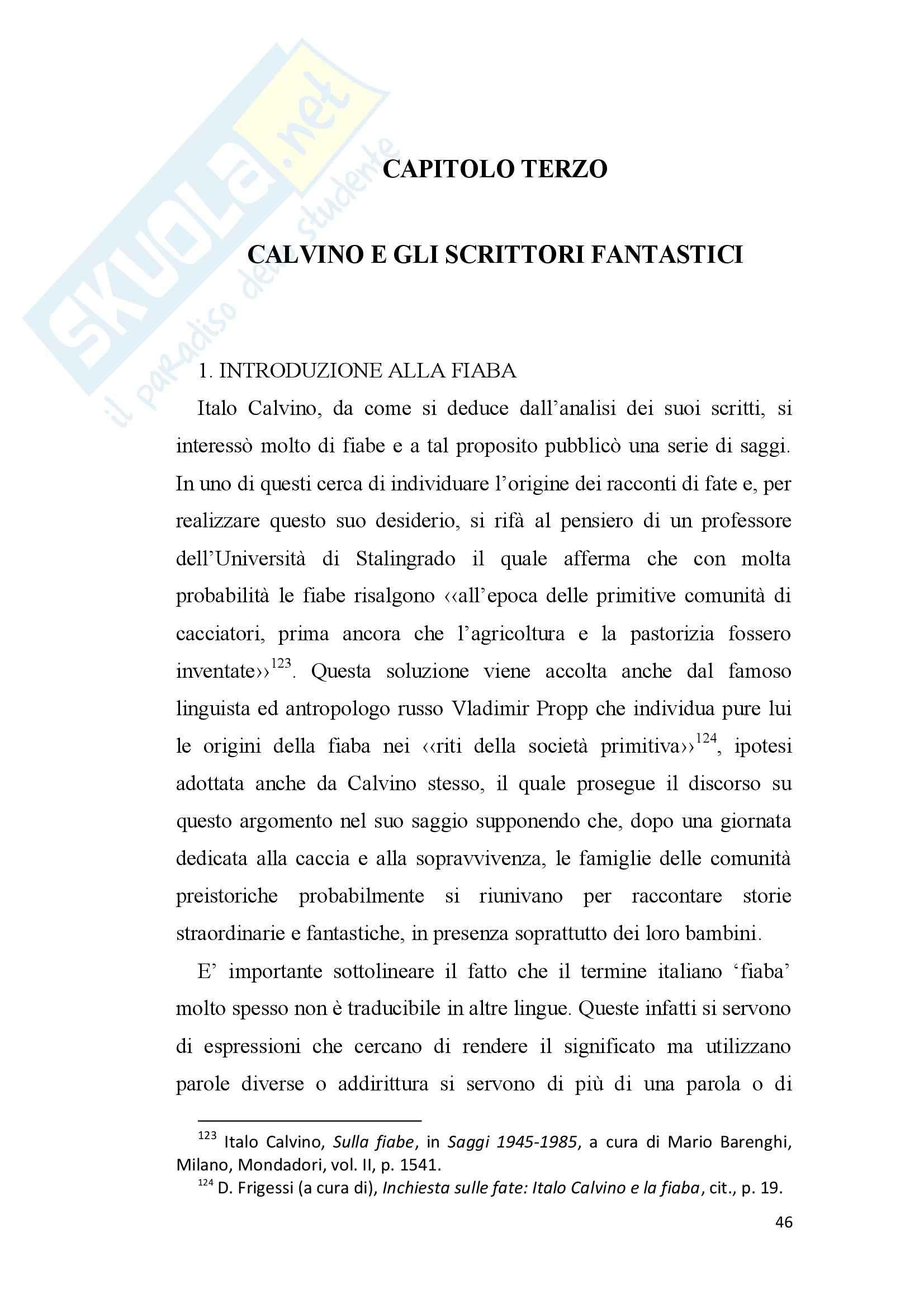 Tesi - Italo Calvino e il fantastico Pag. 46