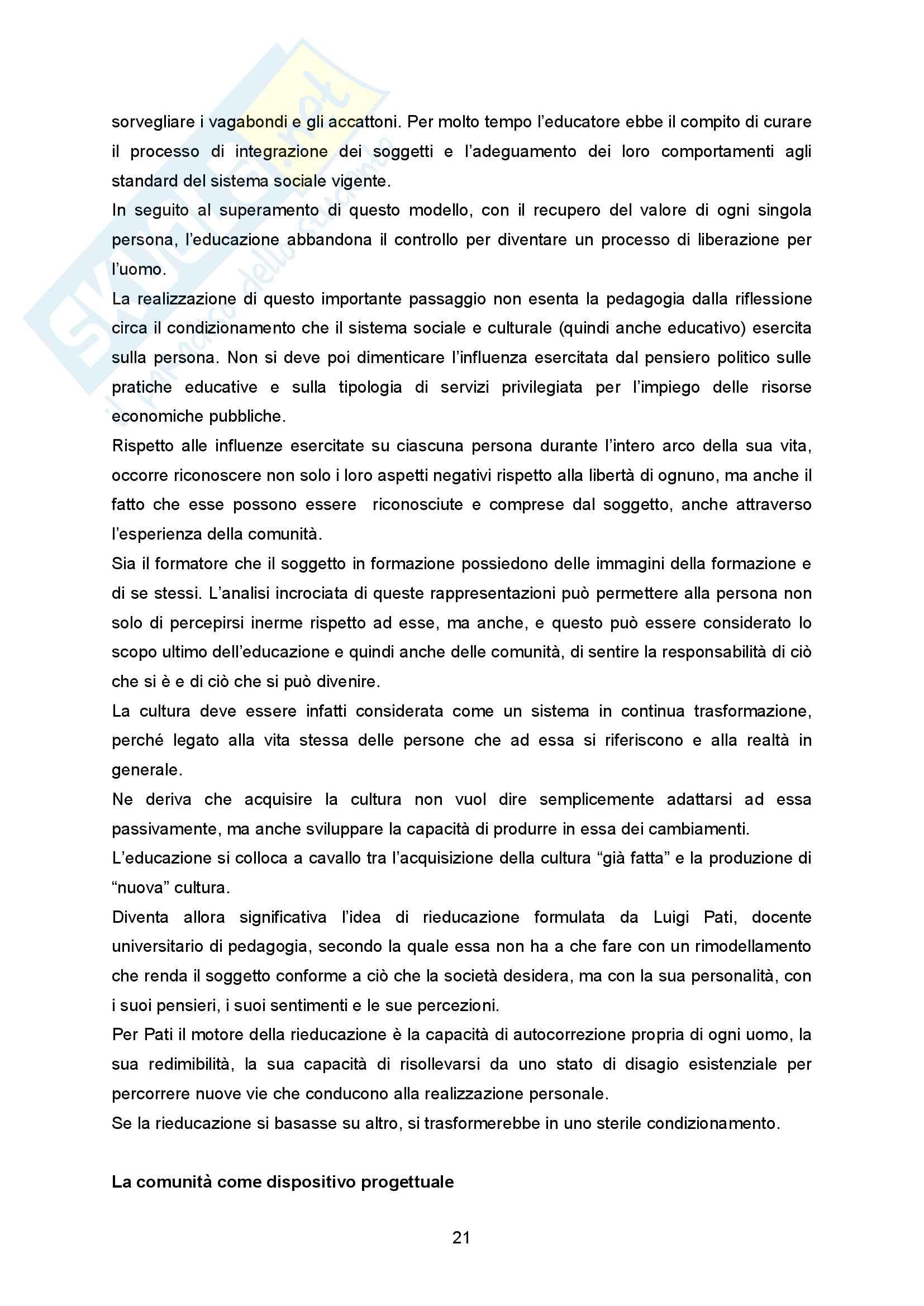 """Sunto Pedagogia dell'adolescenza, prof Barone libro consigliato """"La comunità per minori - Un modello pedagogico"""" di Alessandra Tibollo Pag. 21"""