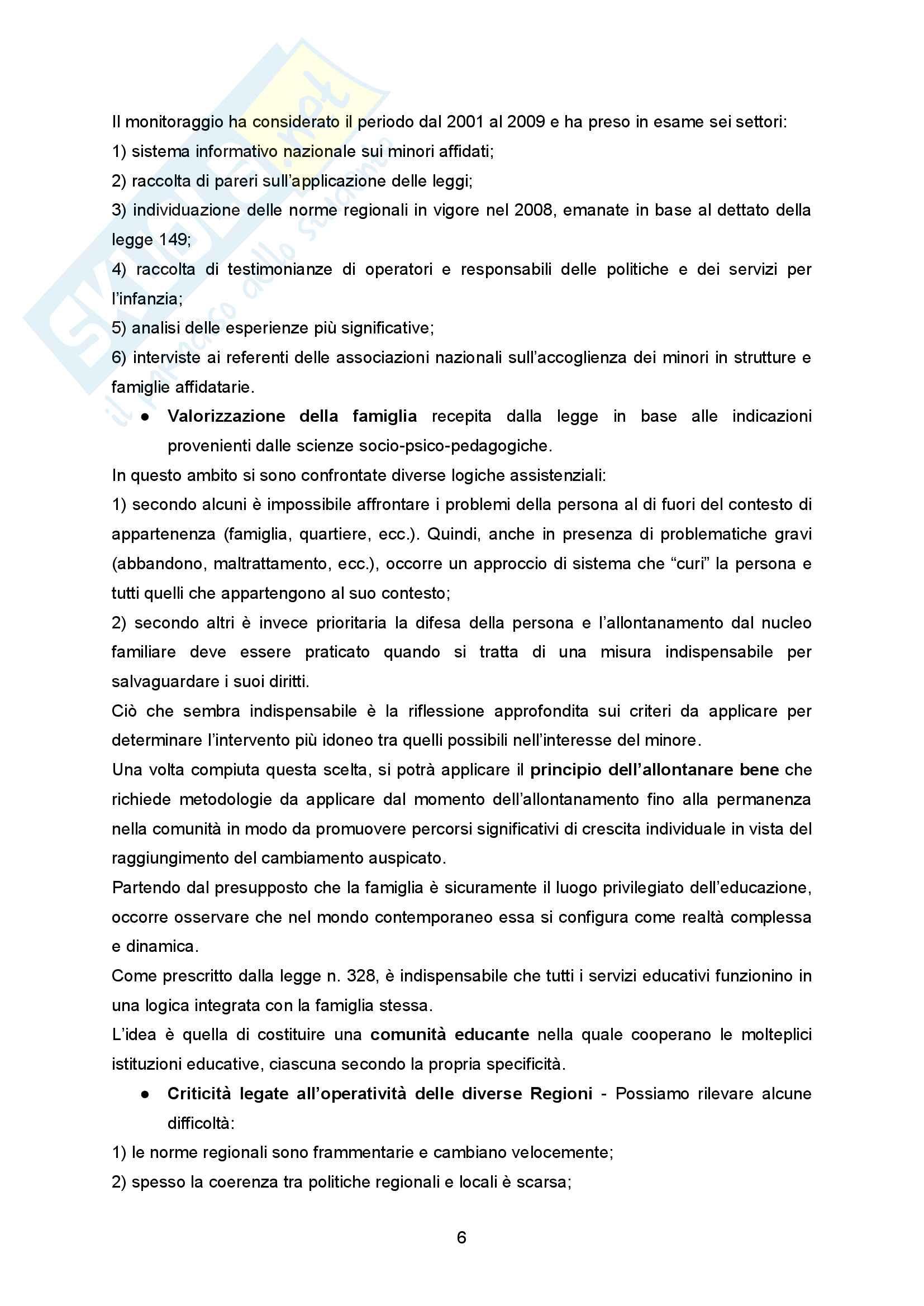 """Sunto Pedagogia dell'adolescenza, prof Barone libro consigliato """"La comunità per minori - Un modello pedagogico"""" di Alessandra Tibollo Pag. 6"""