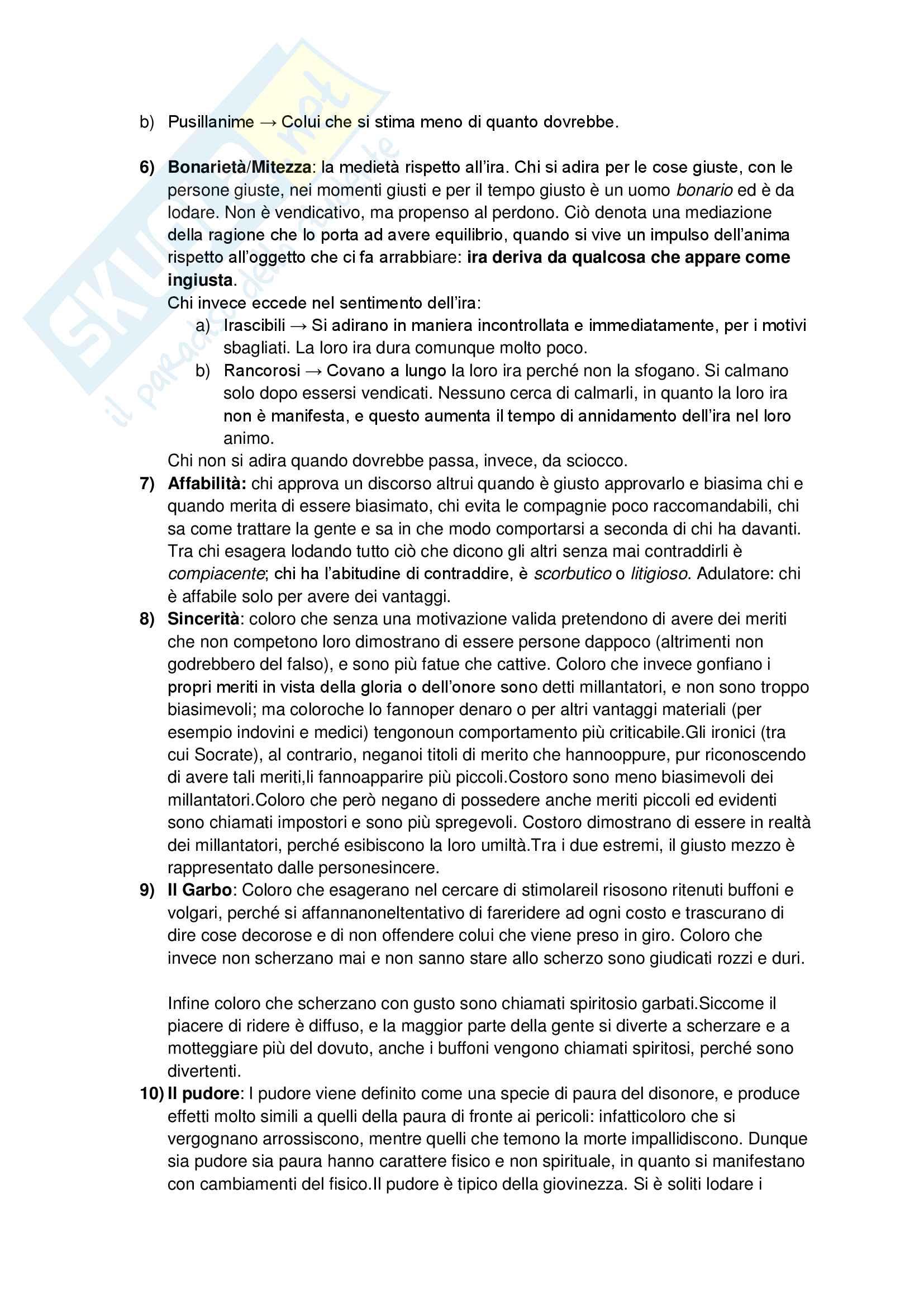 Etica Nicomachea - Aristotele Pag. 6