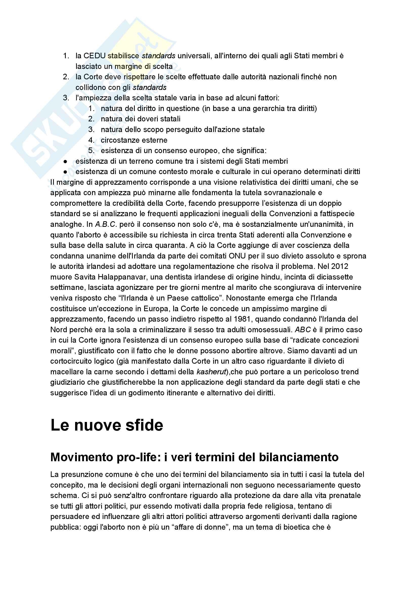 Riassunto esame diritto pubblico comparato, professoressa Mancini, tema dell'aborto Pag. 16