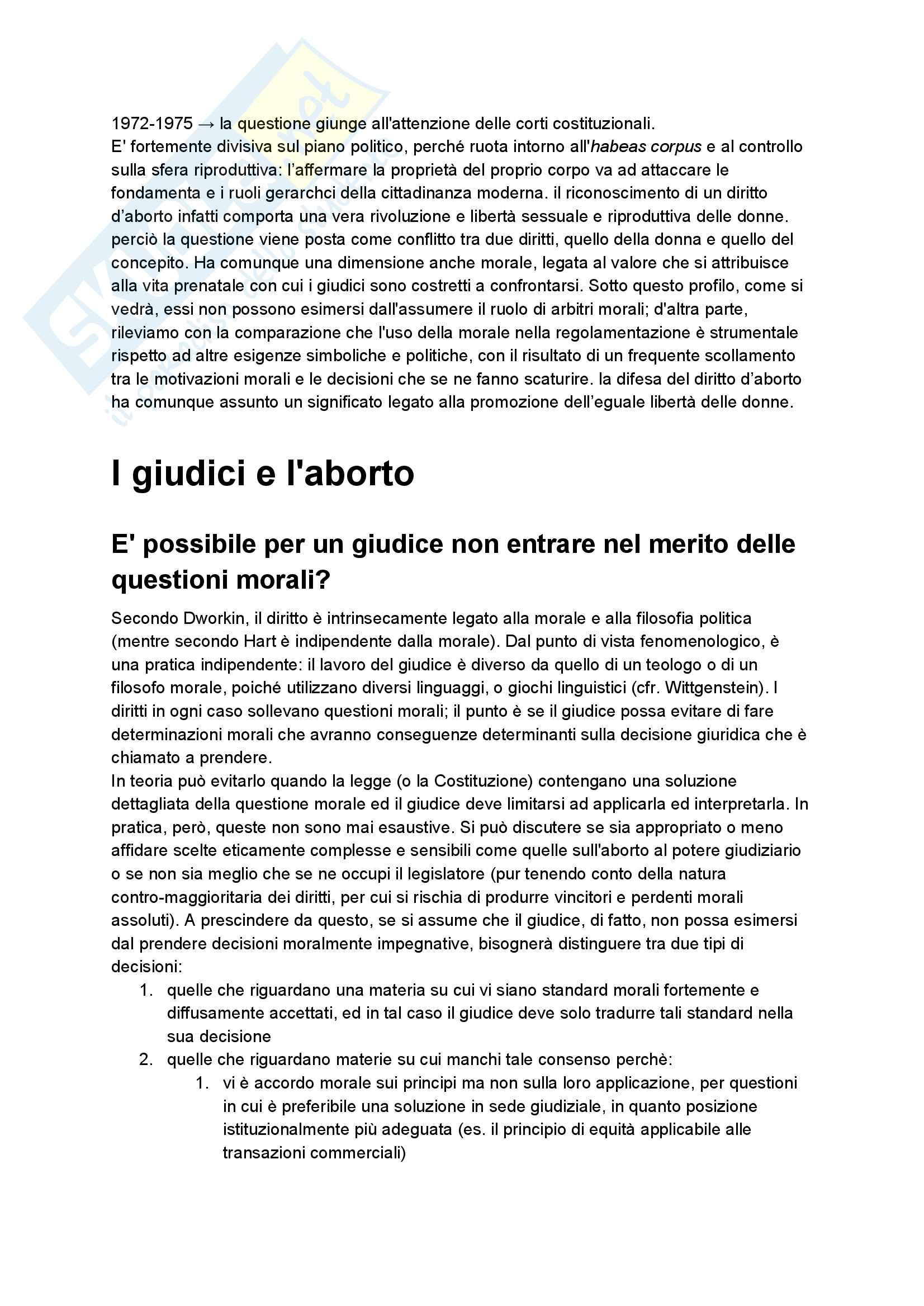 Riassunto esame diritto pubblico comparato, professoressa Mancini, tema dell'aborto Pag. 2