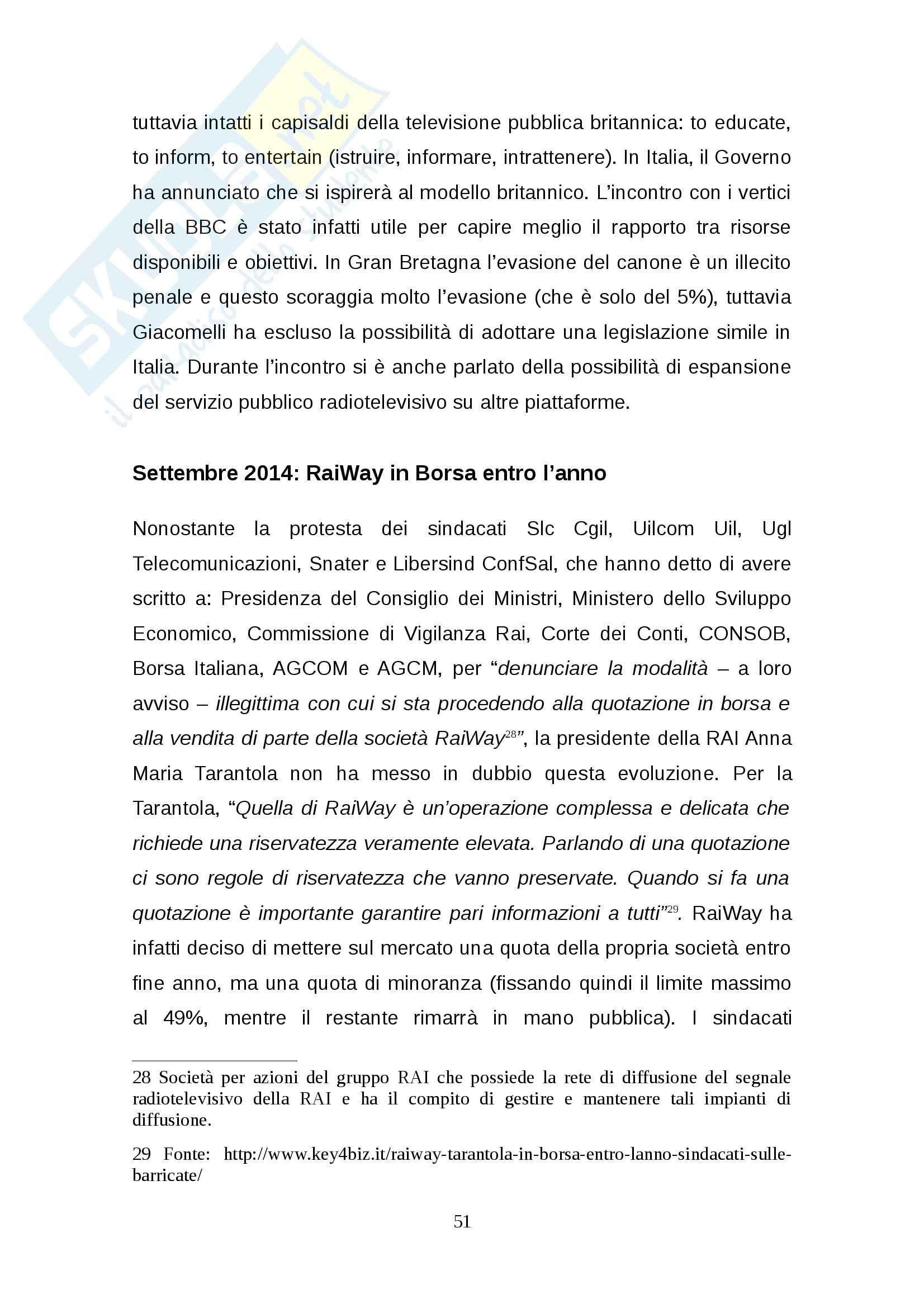 Tesi: Rinnovo della concessione pubblica Stato-RAI: regole e dibattito Pag. 51