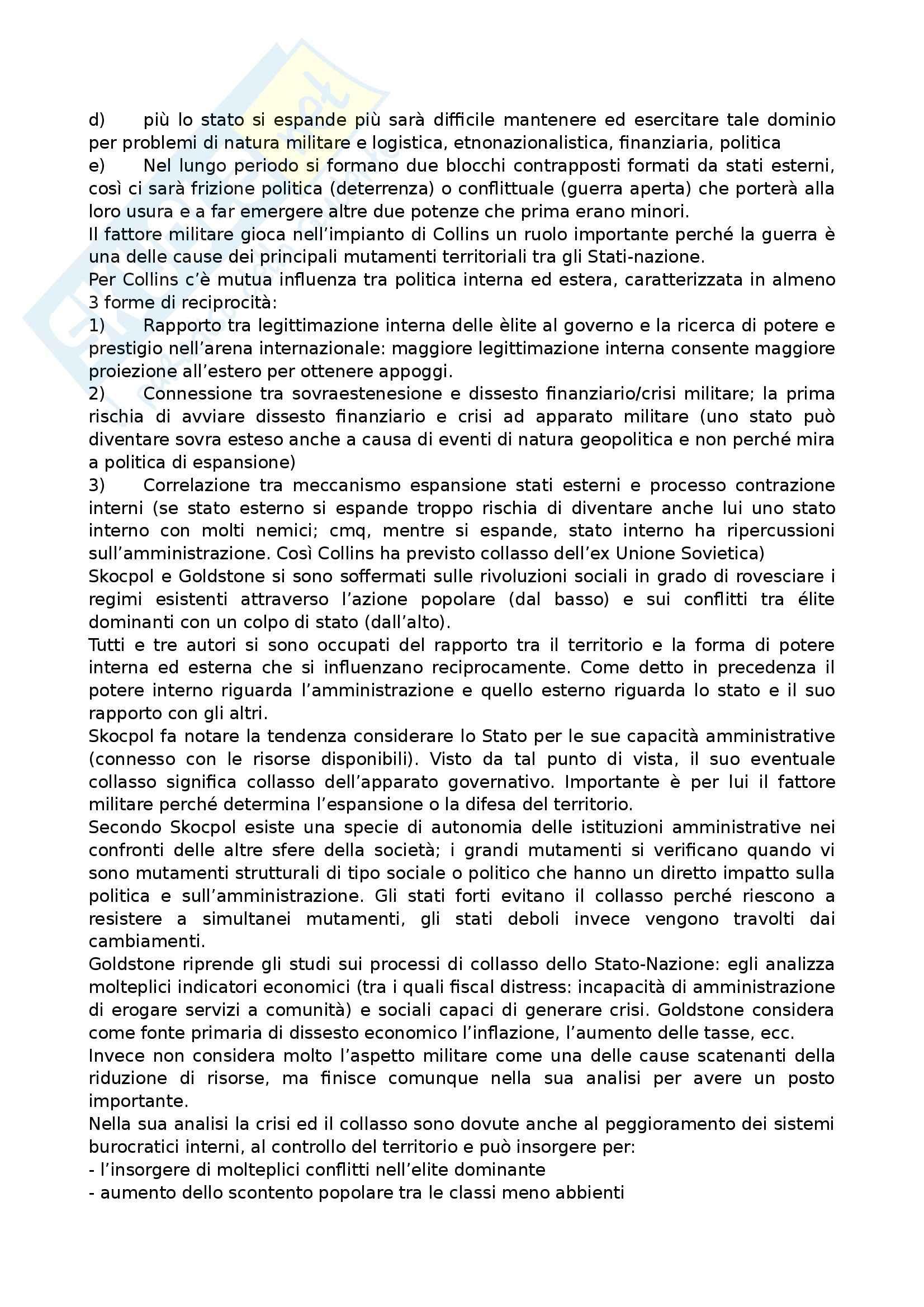 Riassunto esame Relazioni Internazionali, prof. Anzera, libro consigliato Geopolitica dello Stato e Processi Rivoluzionari Pag. 6