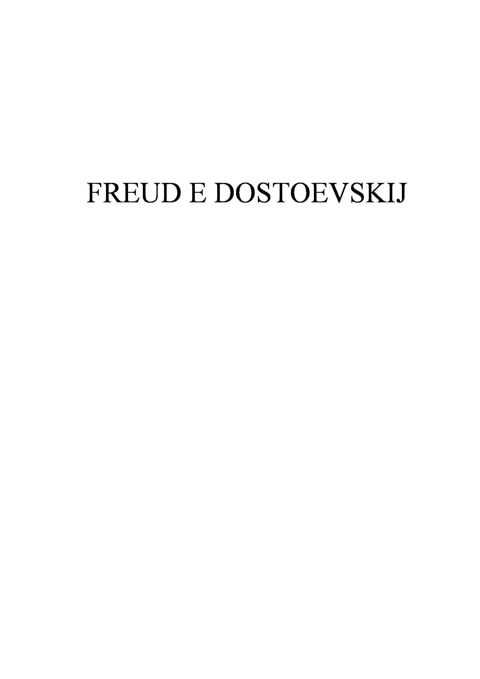 Tesi - Psicologia in letteratura: Dostoevsky