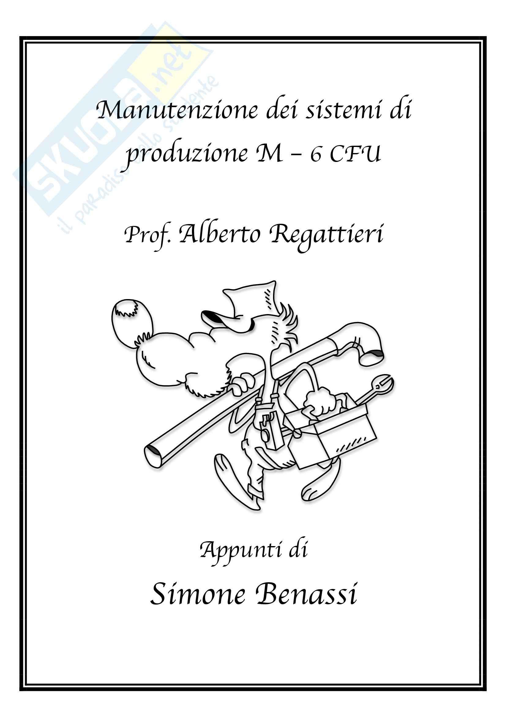 Lezioni, Manutenzione dei sistemi di produzione M