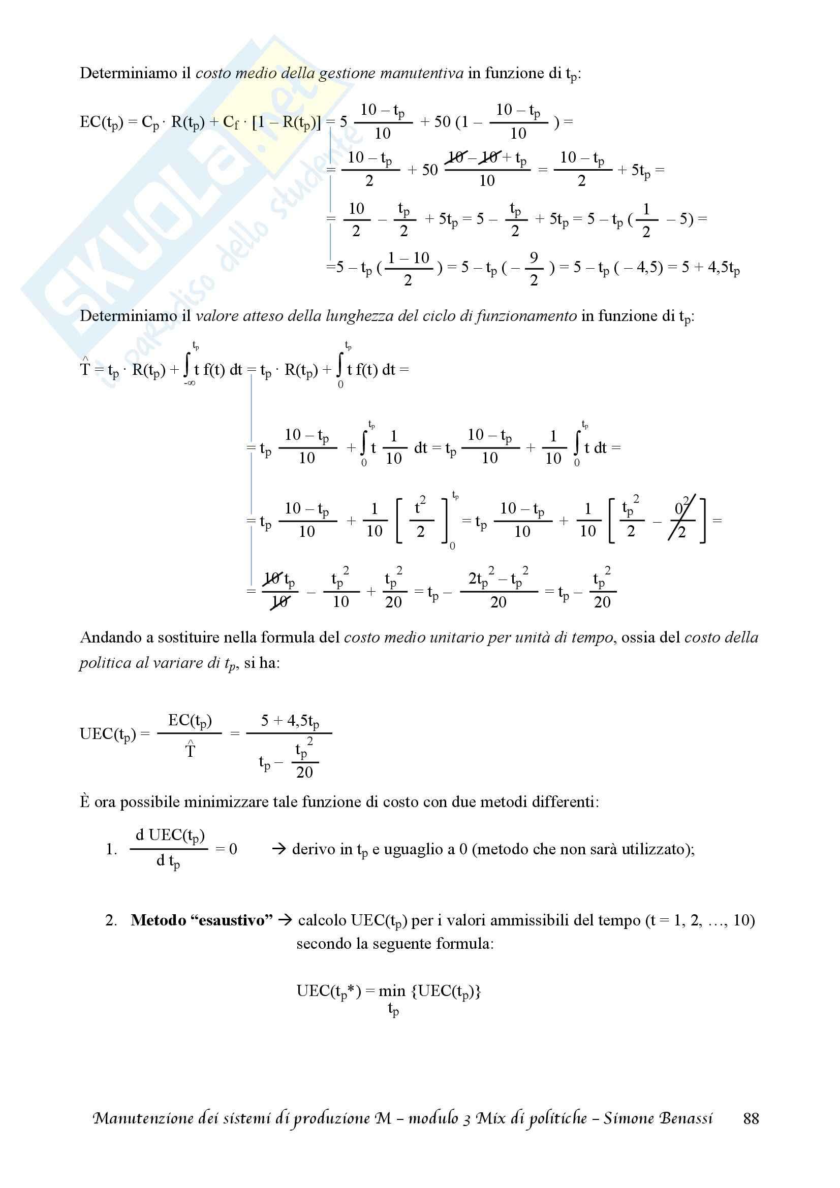 Lezioni, Manutenzione dei sistemi di produzione M Pag. 91