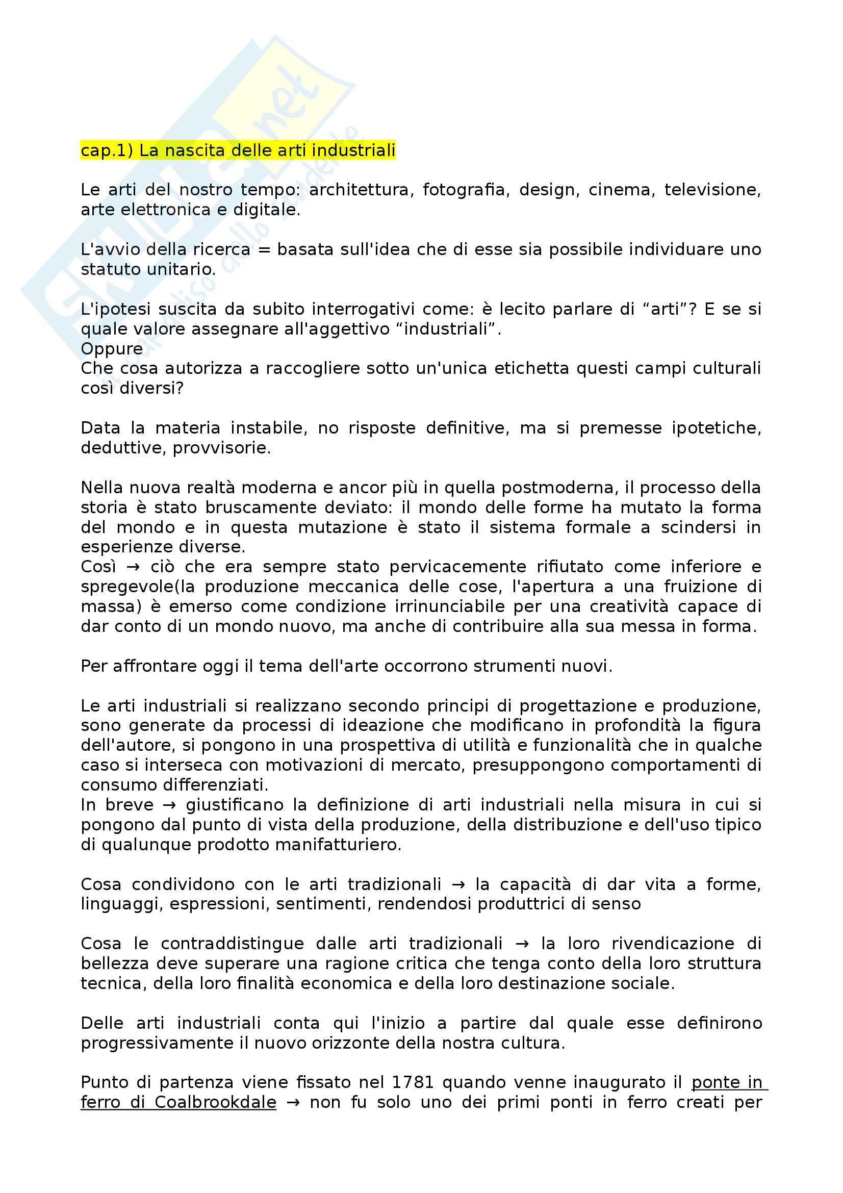 Riassunto esame Produzione artistica e società industriale, prof. Rusconi, libro consigliato Il rifiuto degli dei, Vitta