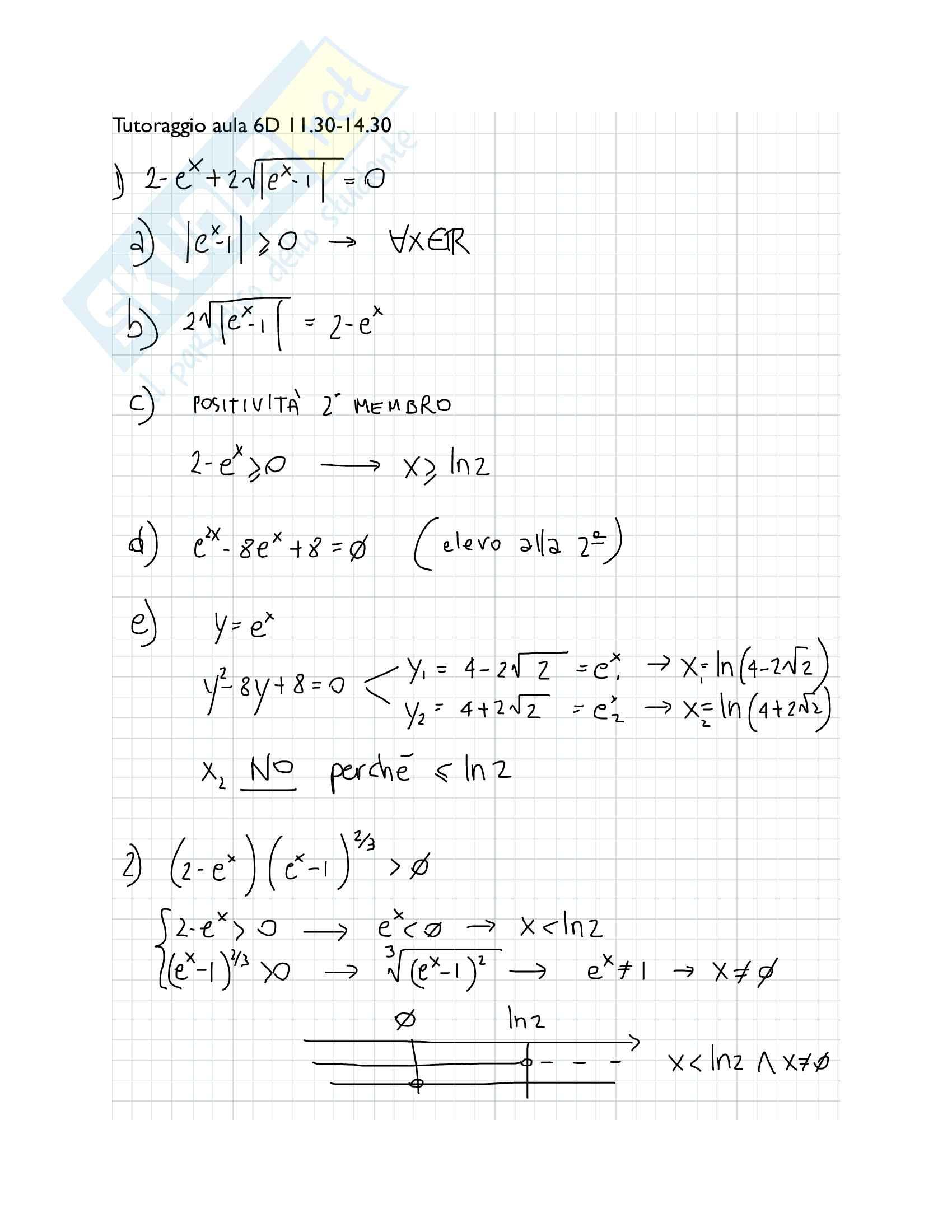 Analisi matematica I - esercizi descritti Pag. 1